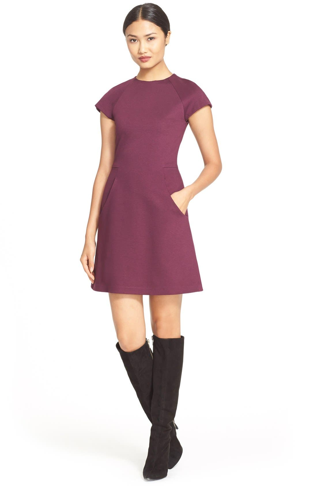 ALICE + OLIVIA,                             'Reanne' Fit & Flare Dress,                             Main thumbnail 1, color,                             502