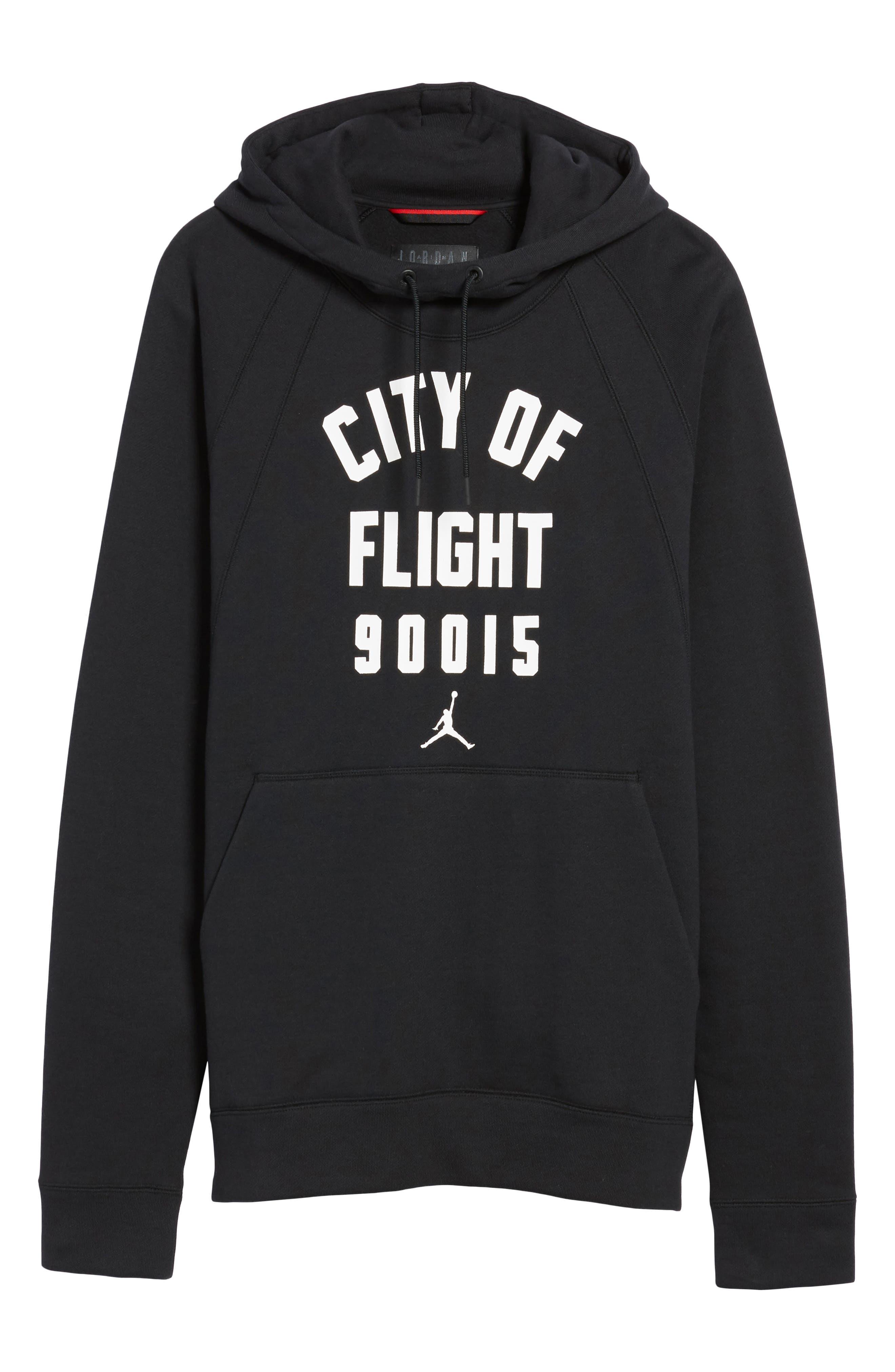 Wings City of Flight Fleece Hoodie,                             Alternate thumbnail 6, color,                             010