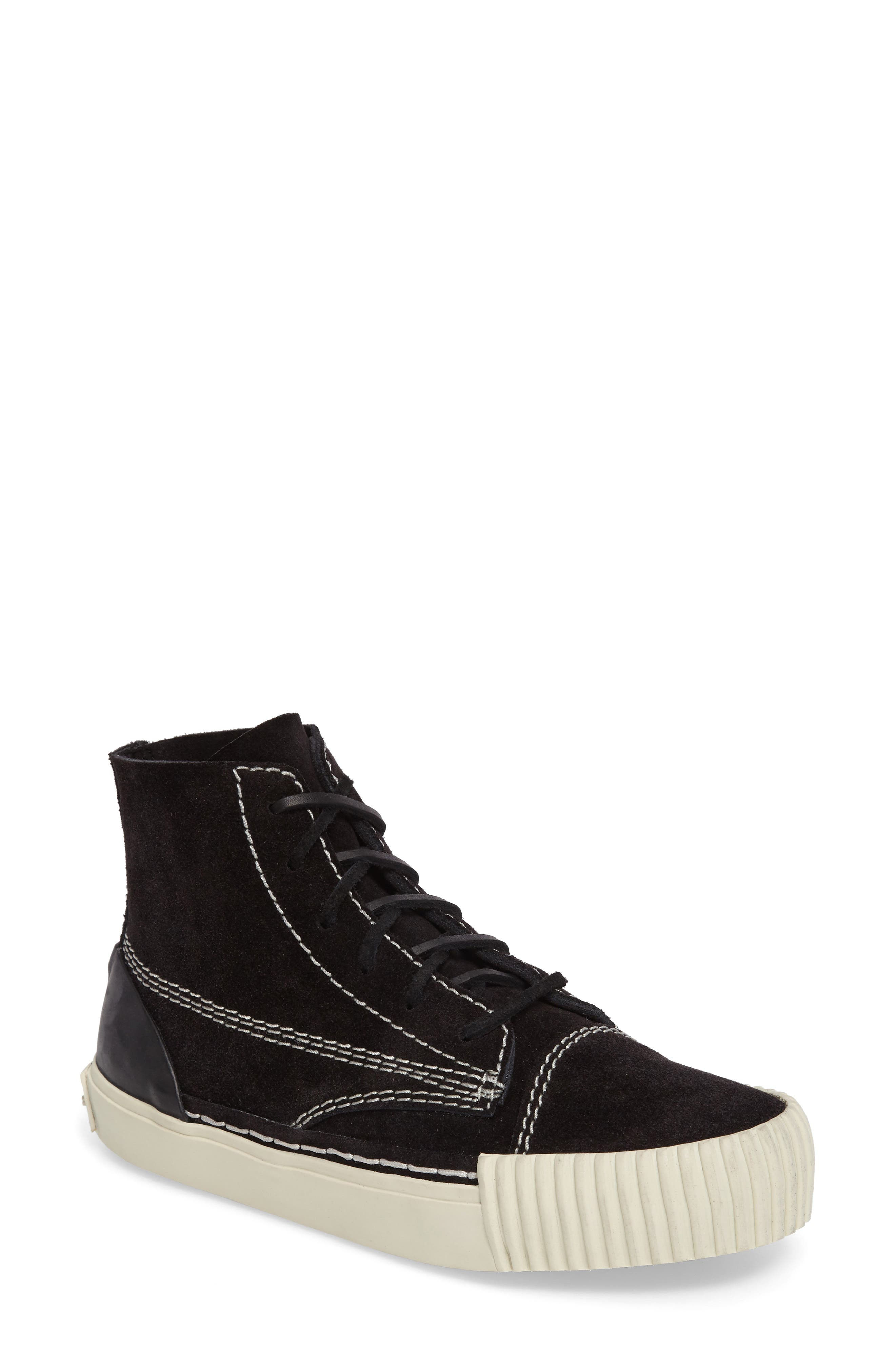 'Perry' Suede High Top Sneaker,                             Main thumbnail 1, color,                             001