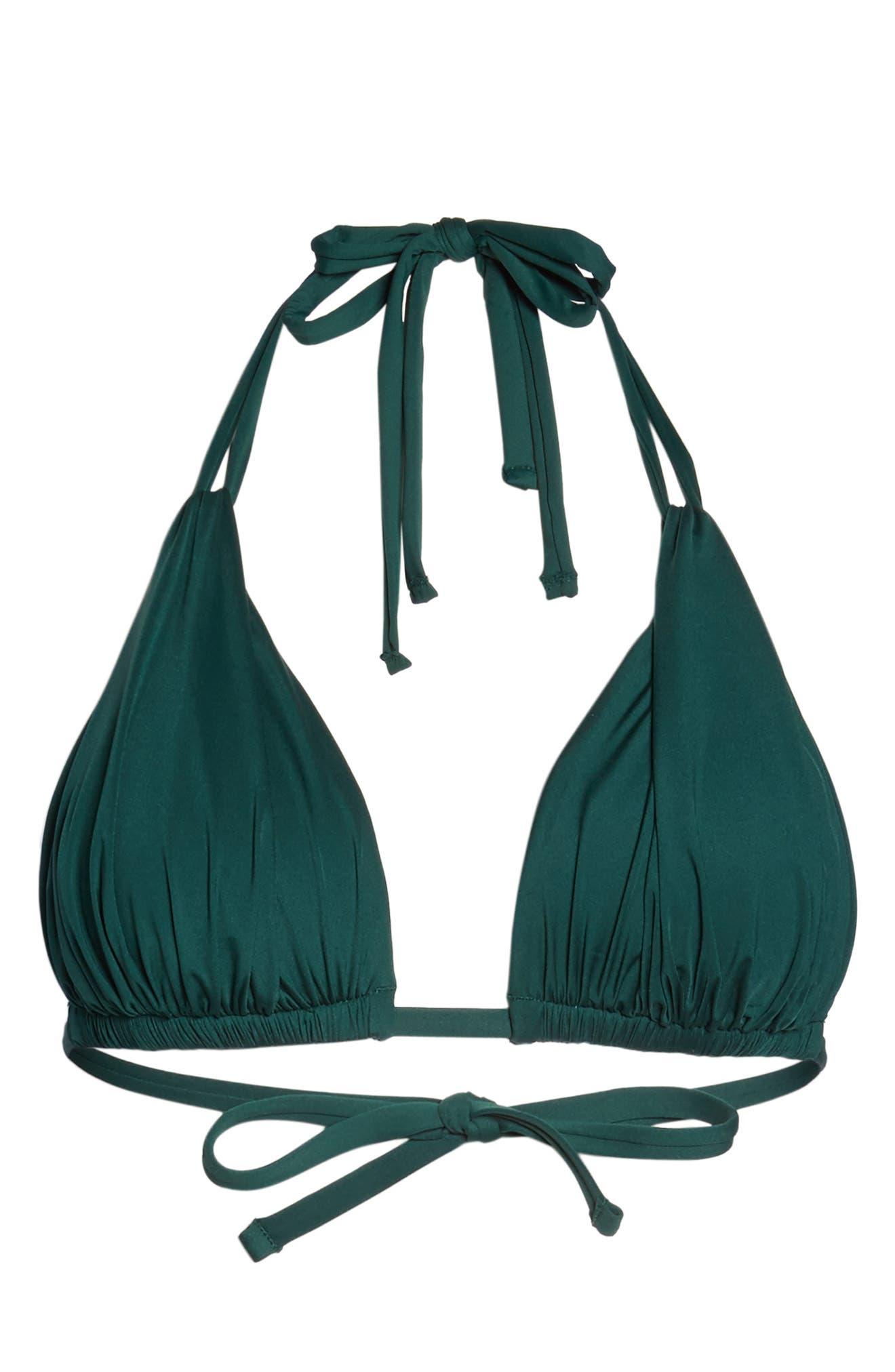 Island Blanca Halter Bikini Top,                             Alternate thumbnail 47, color,