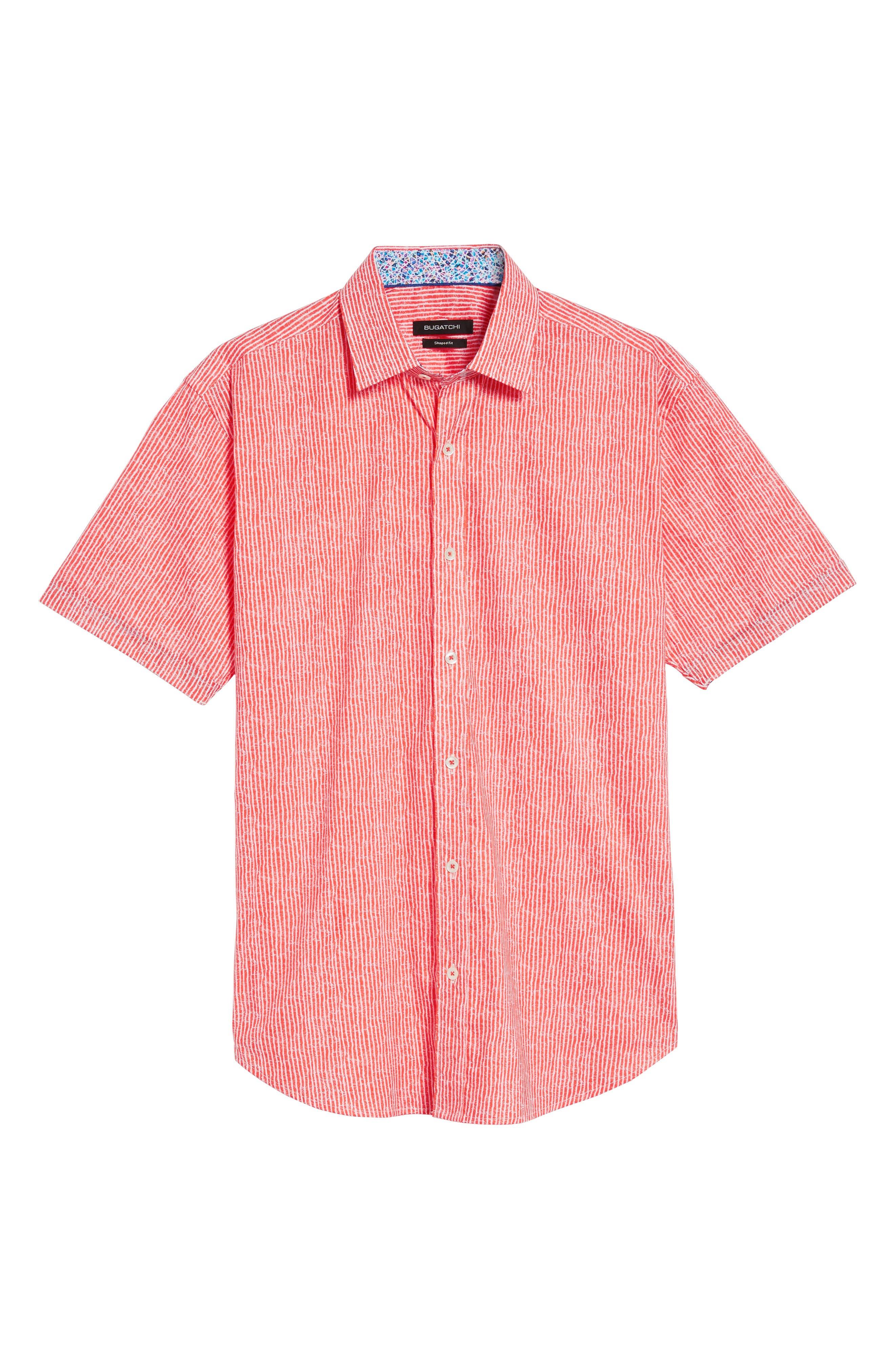 Shaped Fit Stripe Sport Shirt,                             Alternate thumbnail 39, color,