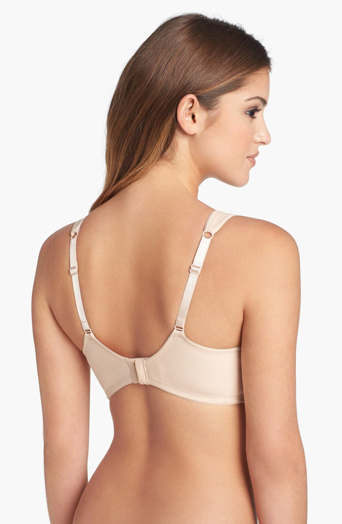 'Marlena' Seamless Soft Cup Bra,                             Alternate thumbnail 5, color,                             NUDE