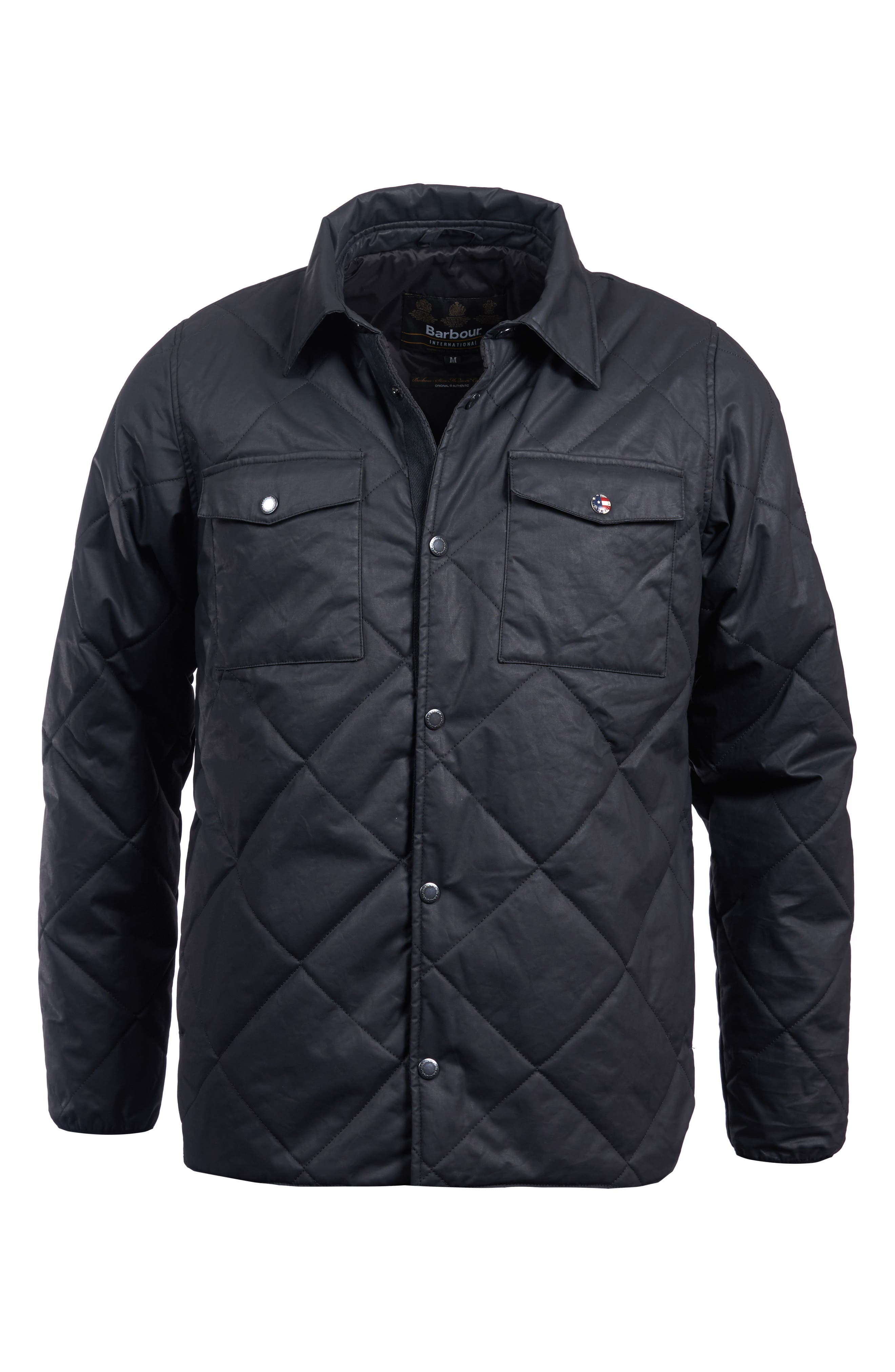 International Sonoran Quilted Shirt Jacket,                             Alternate thumbnail 4, color,                             BLACK