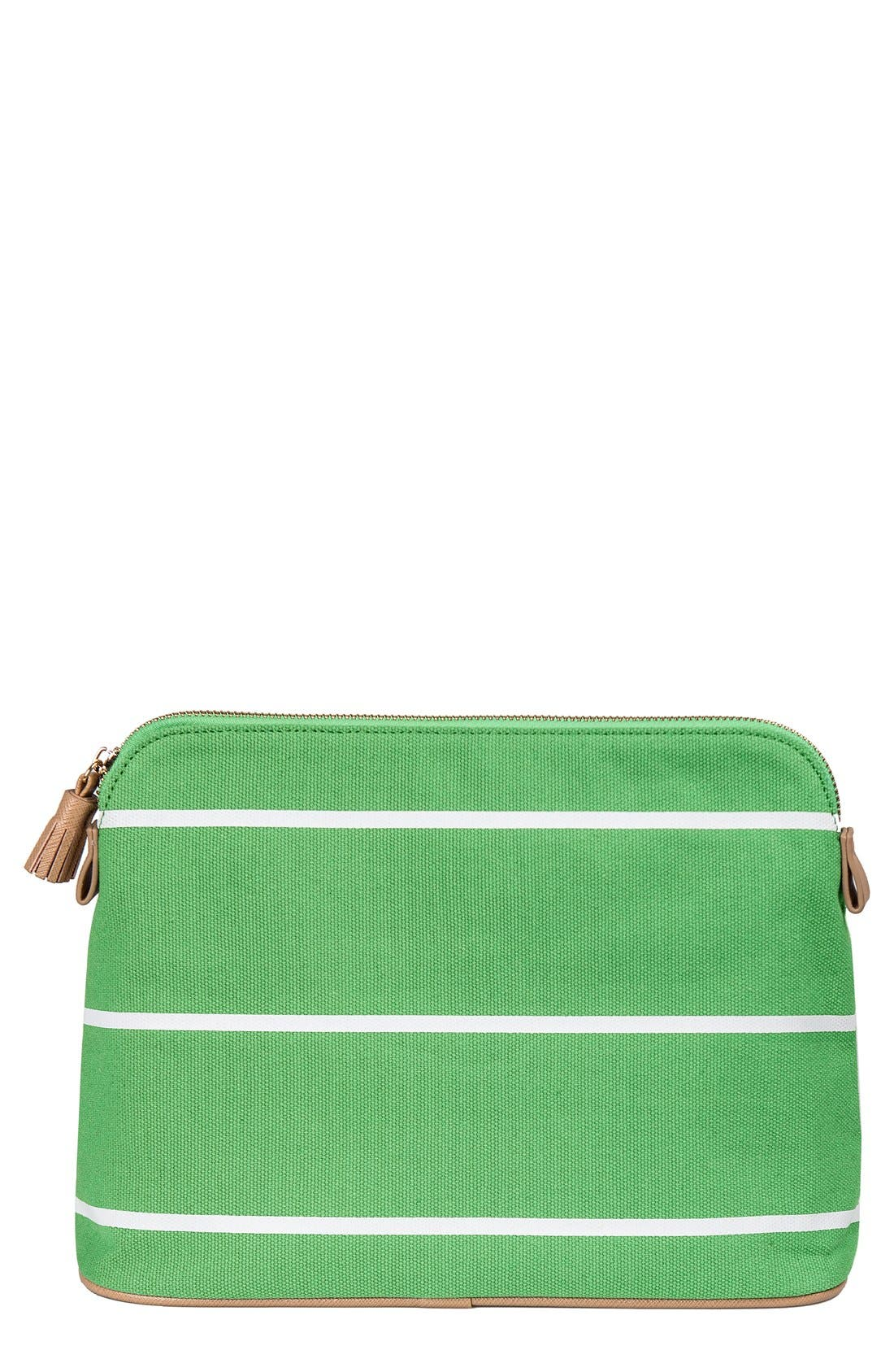 Monogram Cosmetics Bag,                         Main,                         color, GREEN