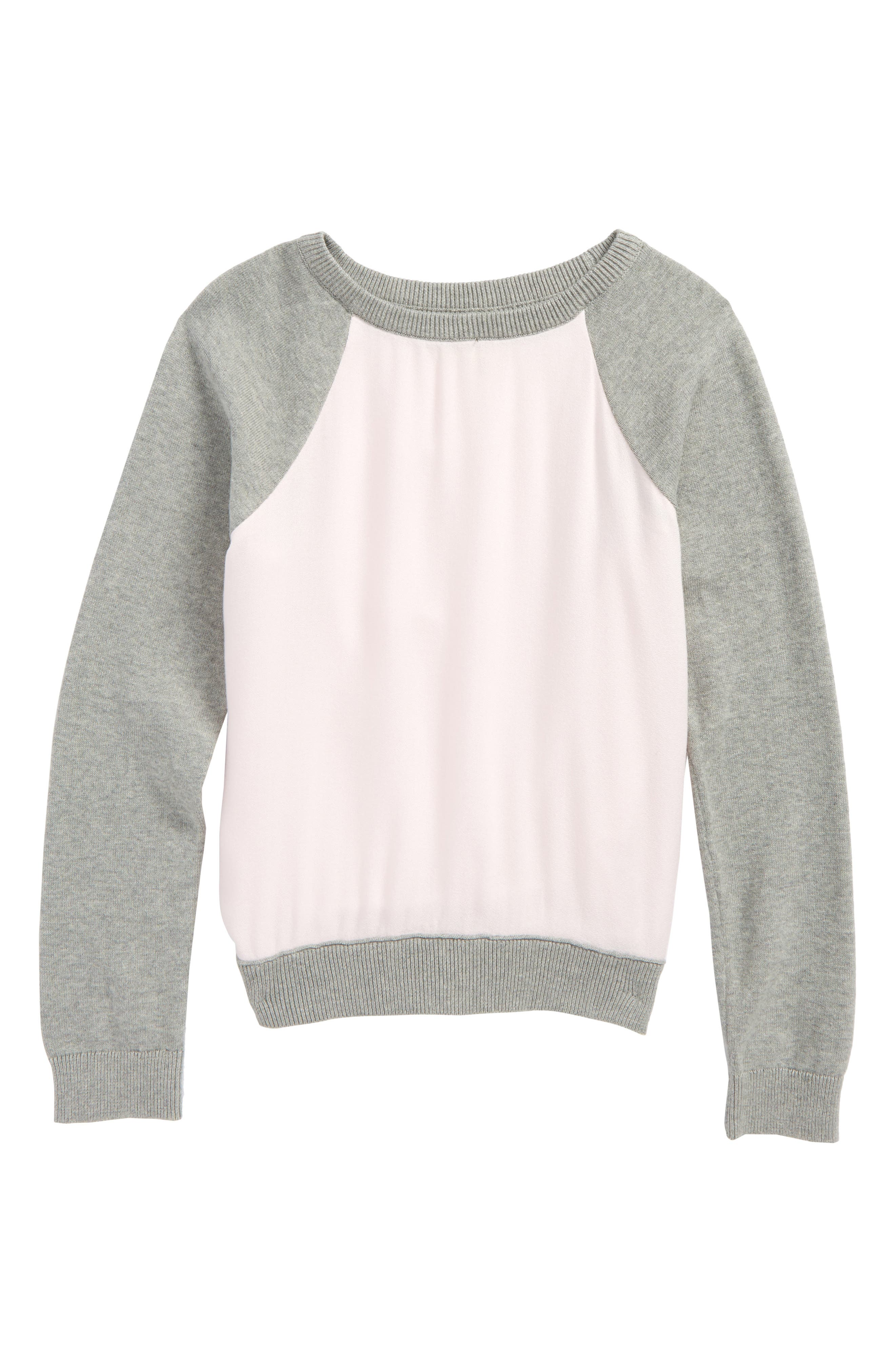 Knit to Woven Sweatshirt,                         Main,                         color,