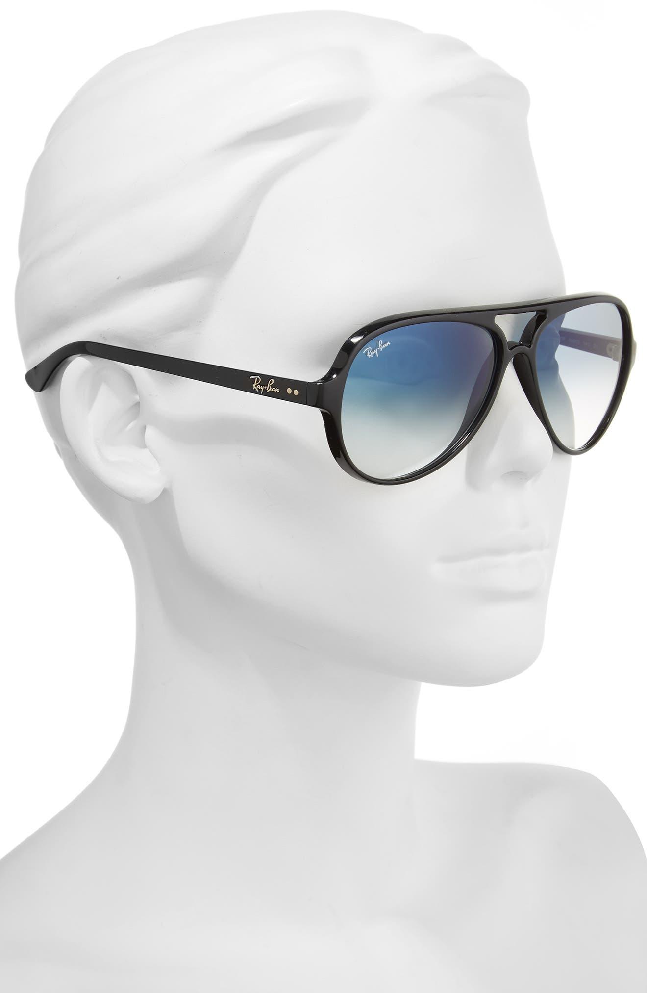 59mm Resin Aviator Sunglasses,                             Alternate thumbnail 3, color,                             003
