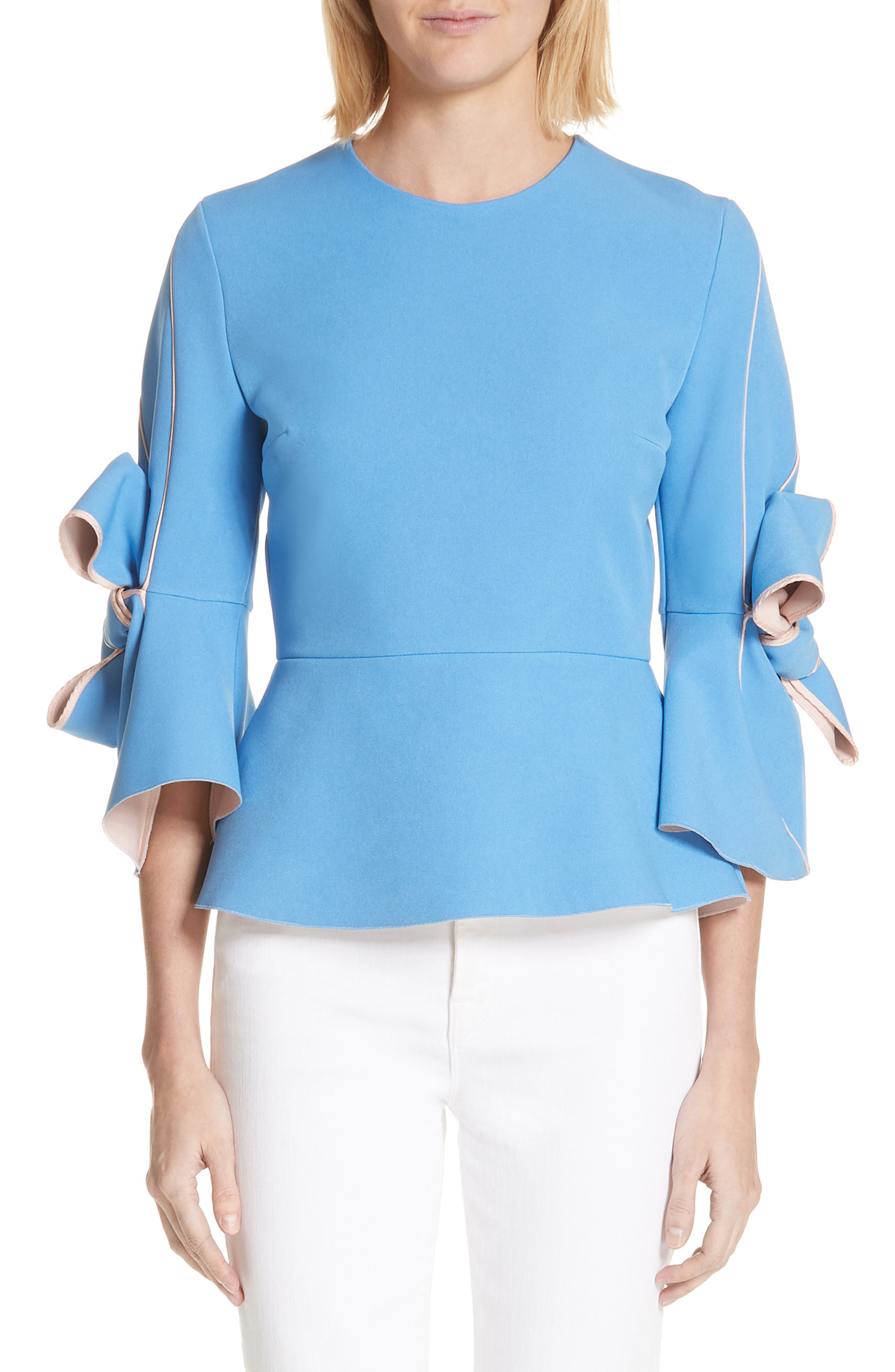 Kemi Bow Trim Top,                             Main thumbnail 1, color,                             400