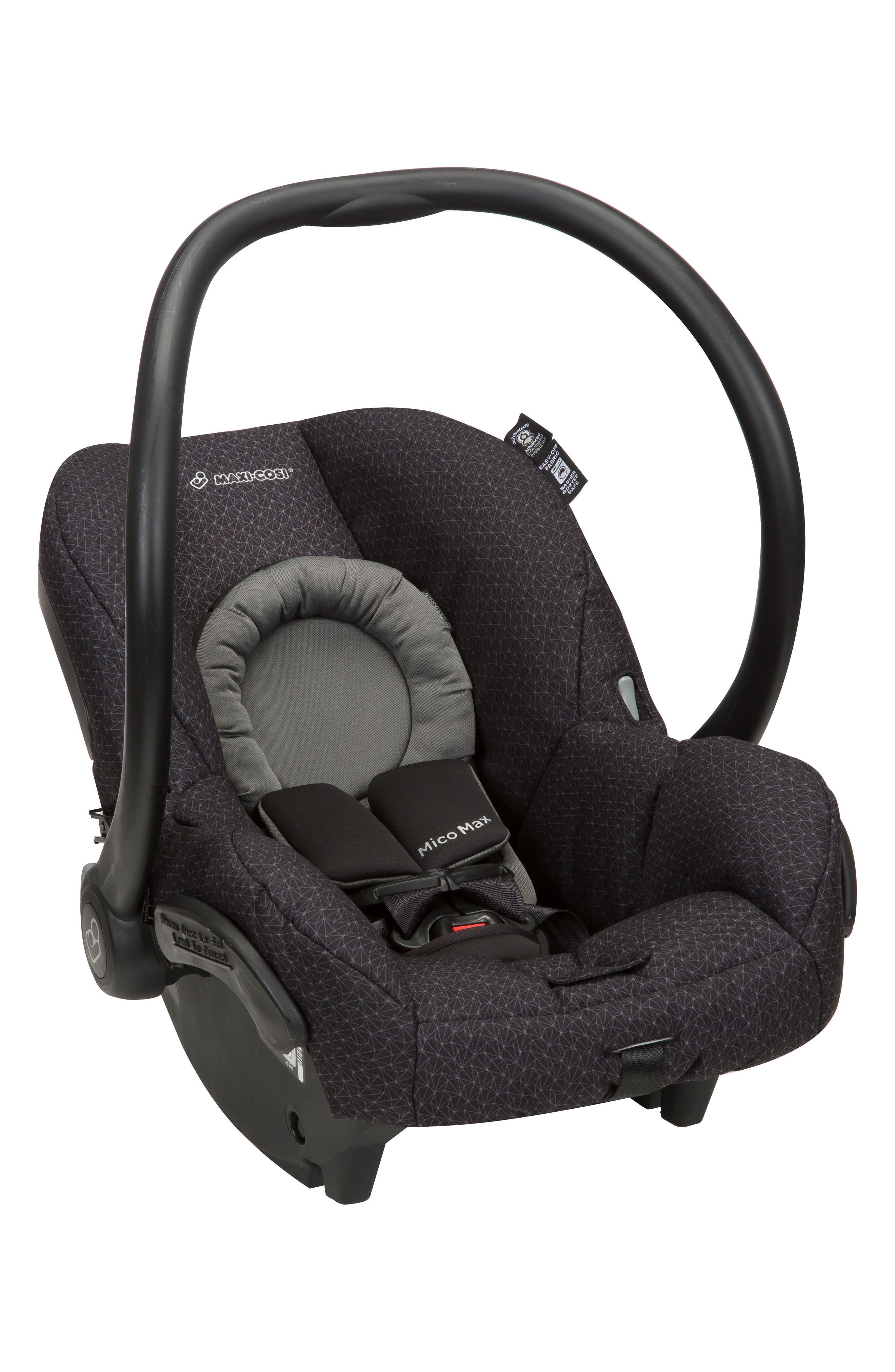Mico Max 30 Infant Car Seat,                             Alternate thumbnail 6, color,                             BLACK CRYSTAL