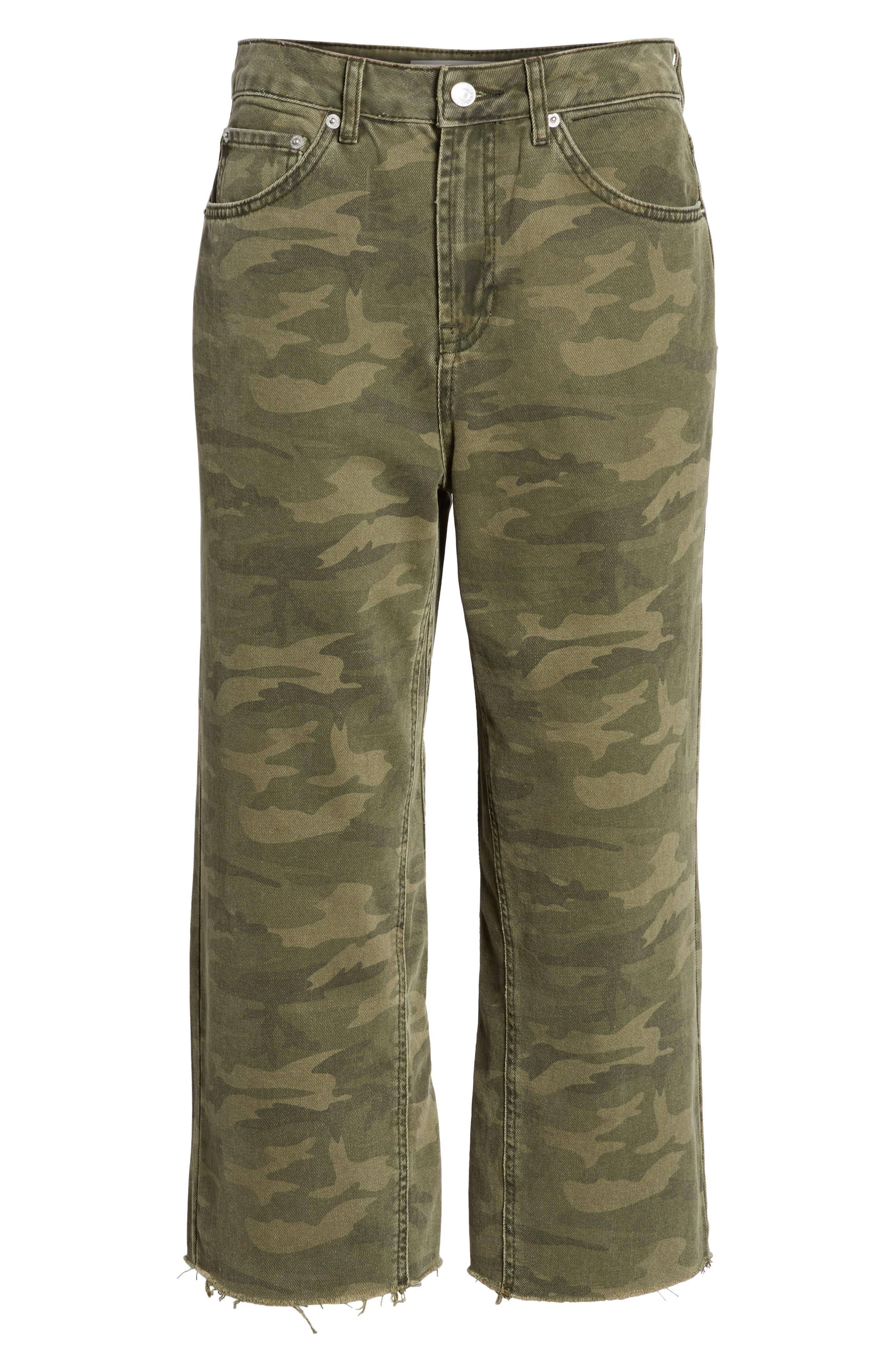 Camo Wide Leg Trousers,                             Alternate thumbnail 7, color,                             300
