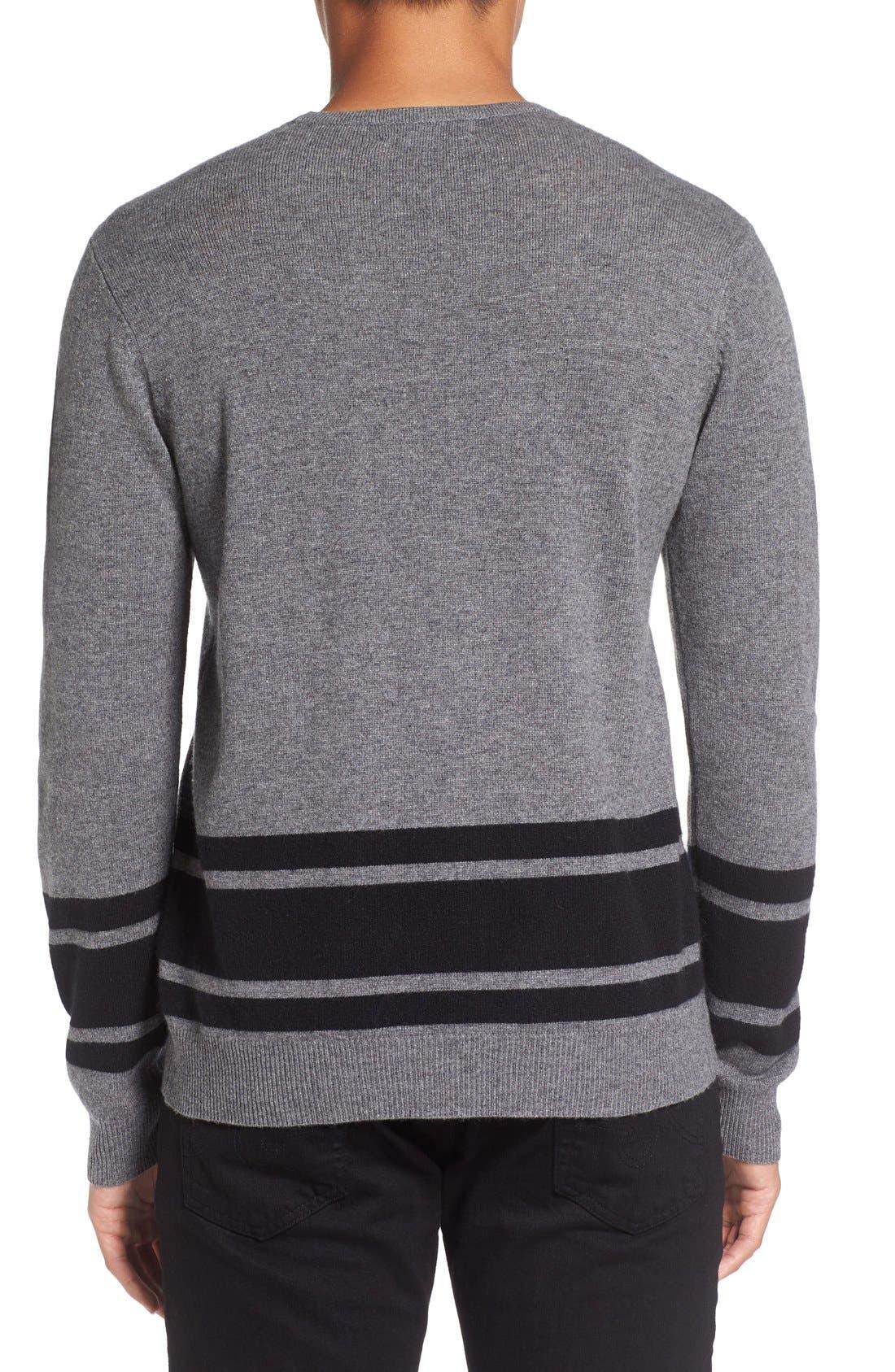 Stripe Wool Blend Sweater,                             Alternate thumbnail 2, color,                             020