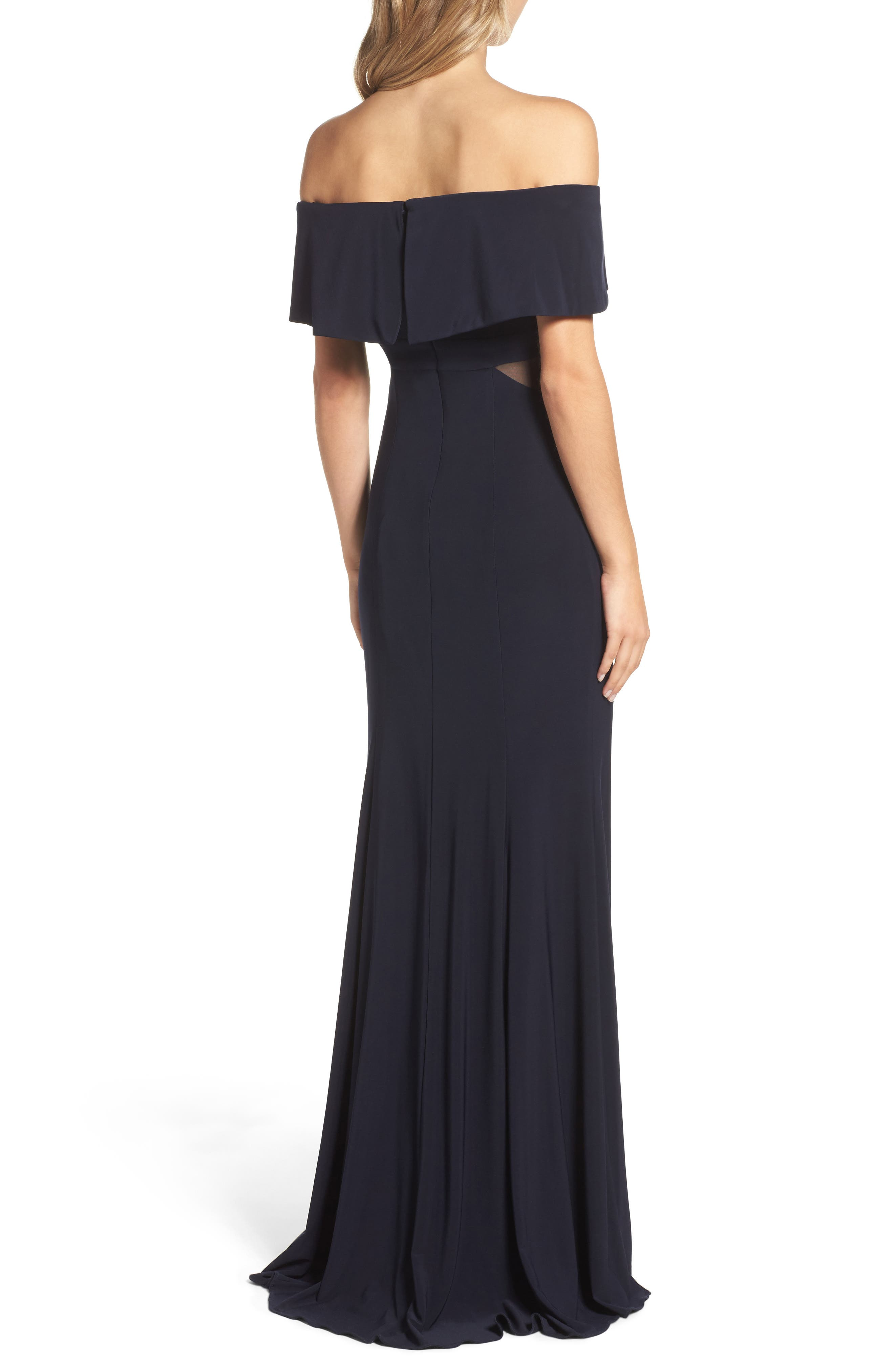 Jersey Popover Gown,                             Alternate thumbnail 6, color,