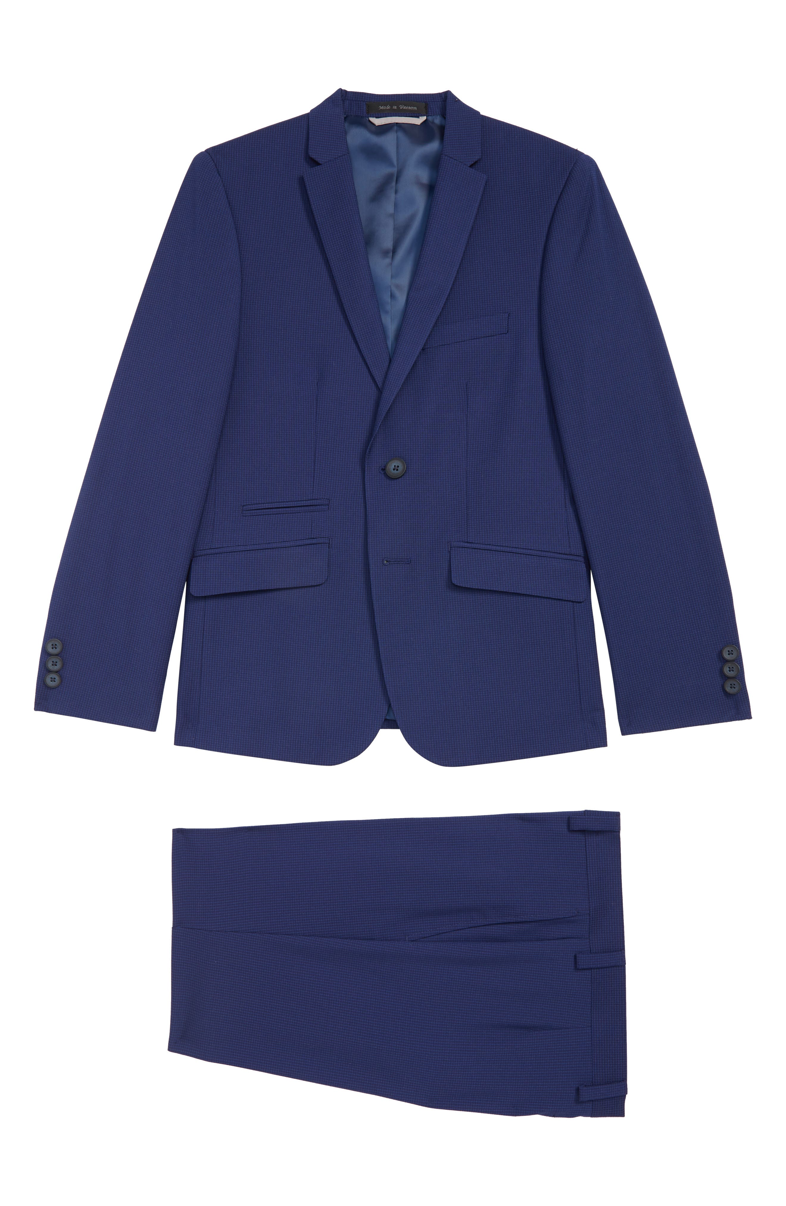 Boys Andrew Marc Mini Grid Nested Suit