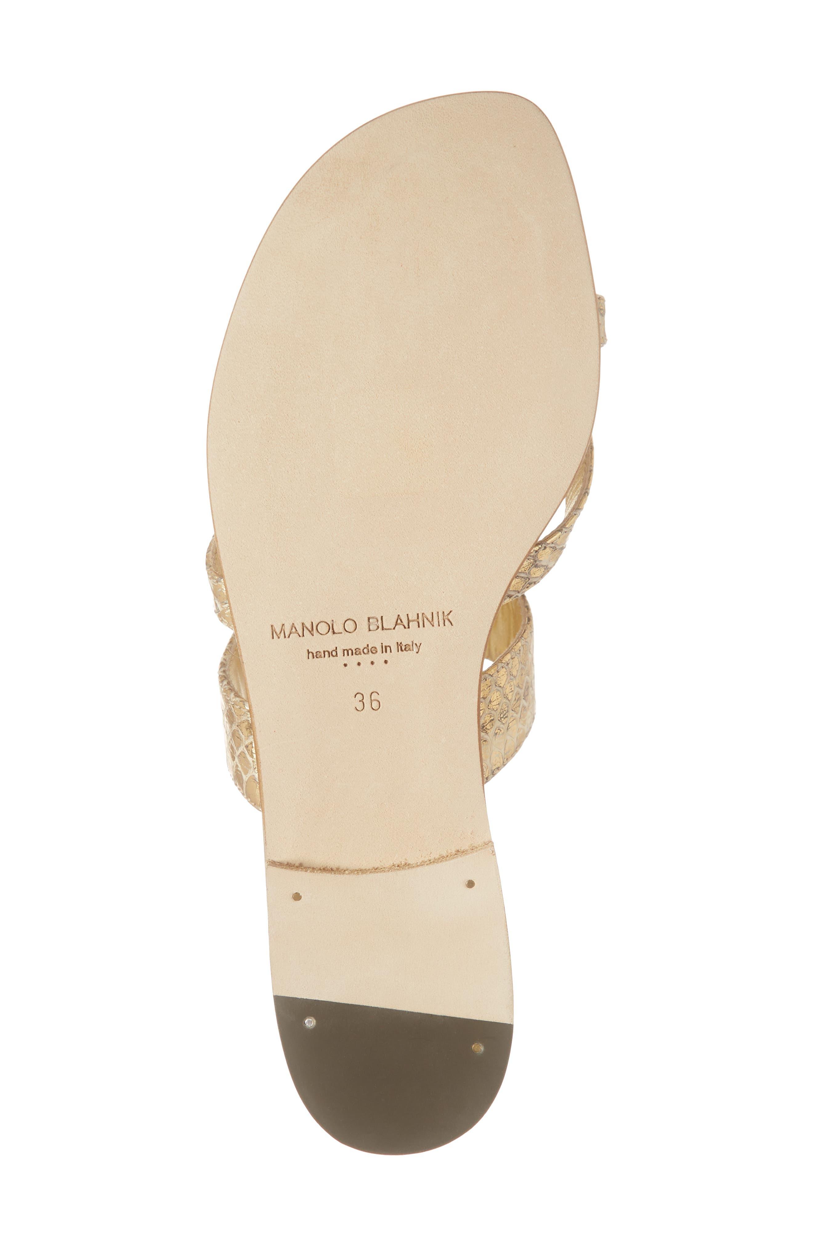 MANOLO BLAHNIK,                             'Susa' Genuine Snakeskin Sandal,                             Alternate thumbnail 6, color,                             GOLD WATERSNAKE