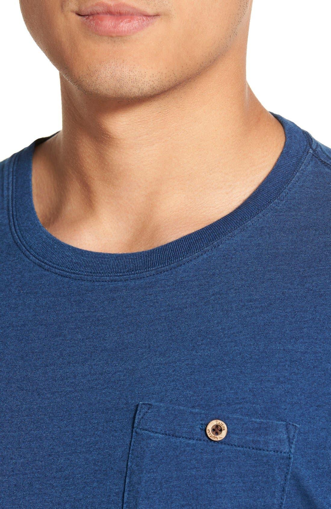 Pocket Crewneck T-Shirt,                             Alternate thumbnail 4, color,                             489