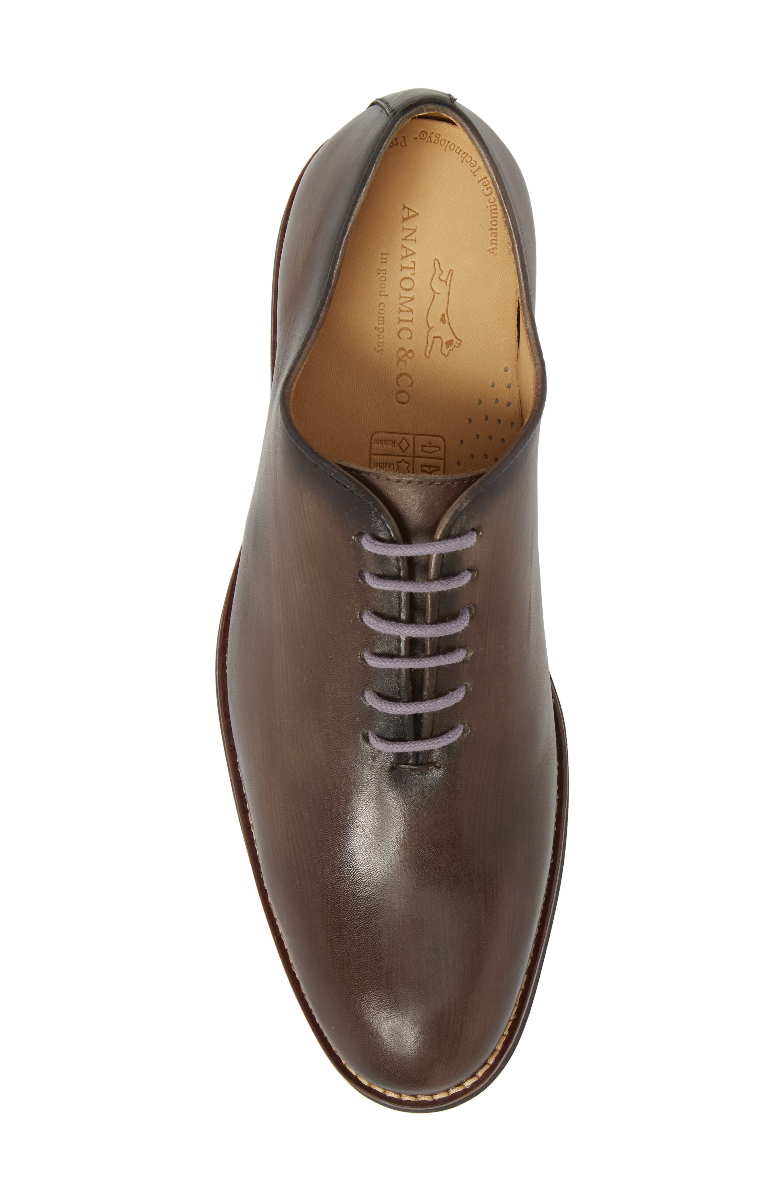 Sao Paulo II Whole Cut Shoe,                             Alternate thumbnail 5, color,                             TOUCH GREY BRUSHED LEATHER