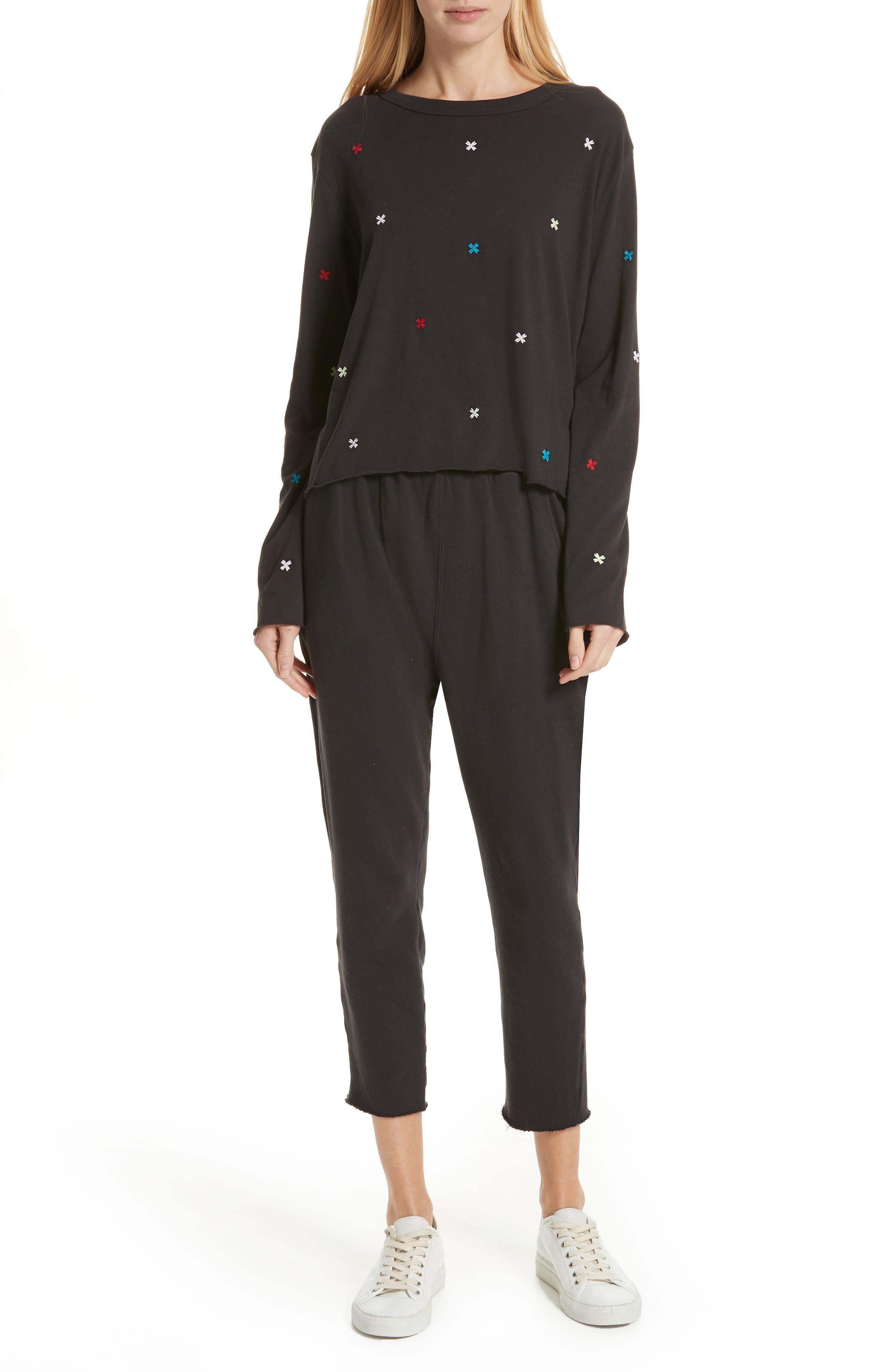 The Pajama Sweatpants,                             Alternate thumbnail 7, color,                             ALMOST BLACK