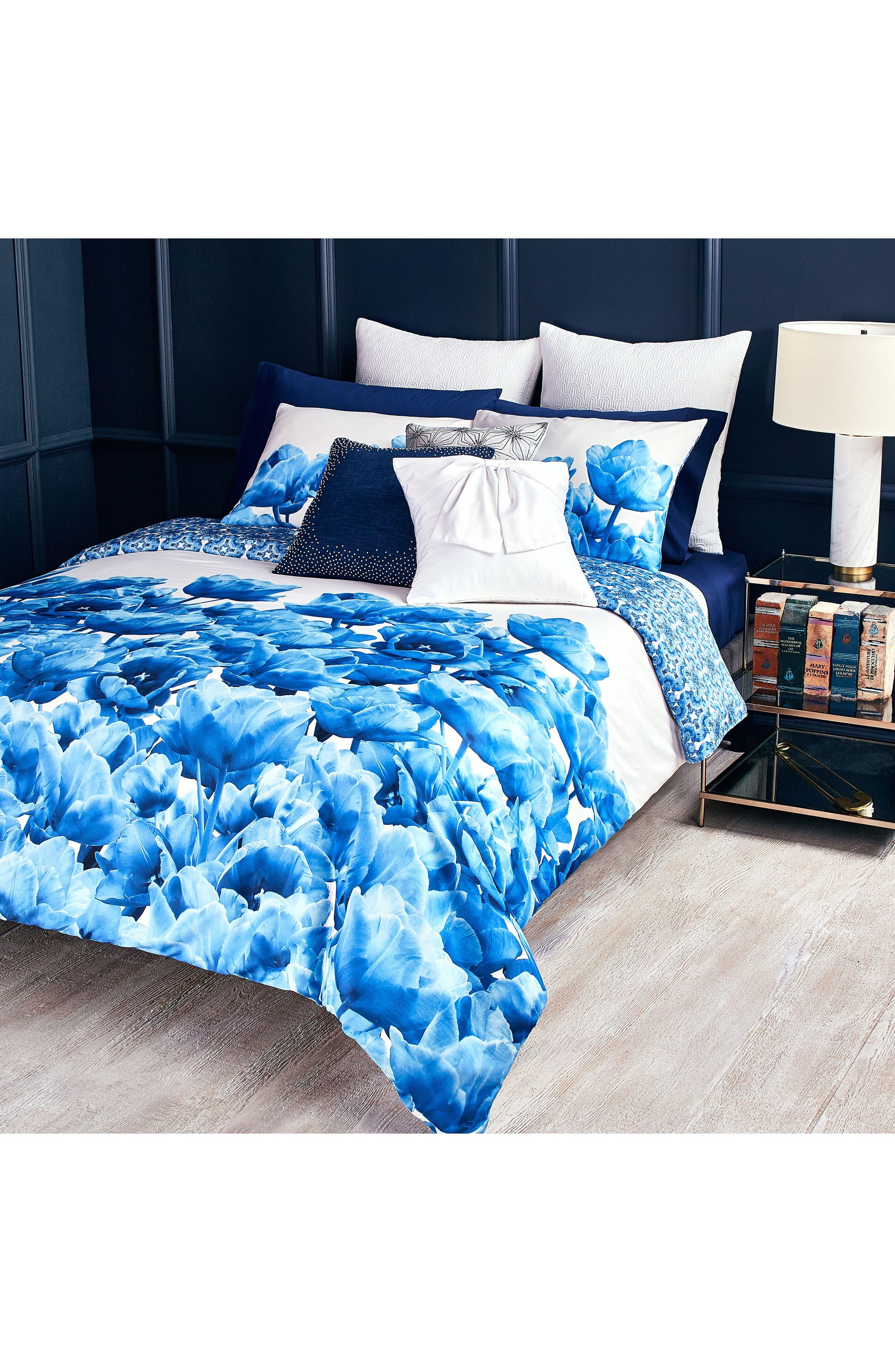 Blue Beauty Comforter & Sham Set,                             Alternate thumbnail 3, color,                             400
