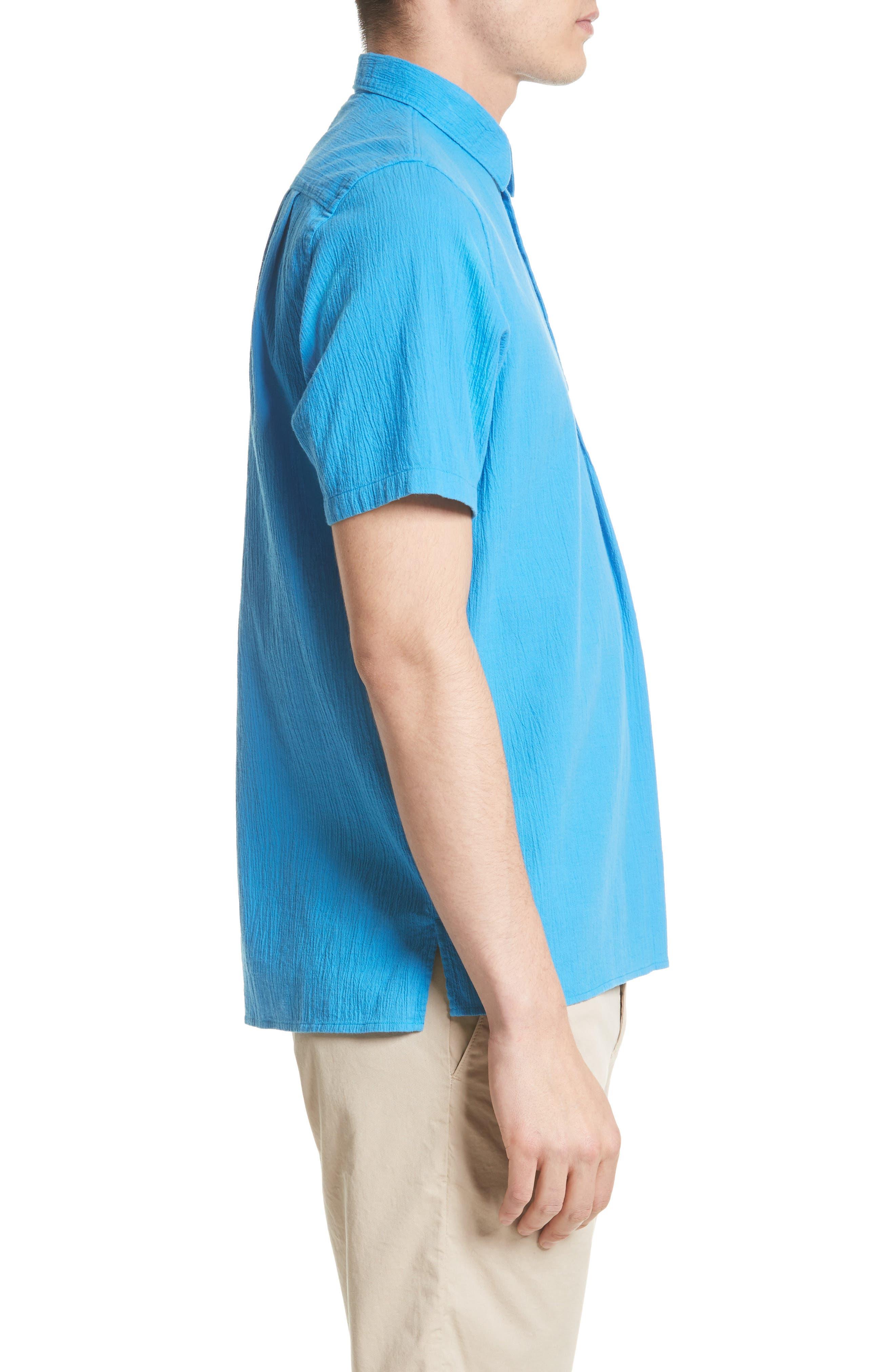 Theo Cotton & Linen Sport Shirt,                             Alternate thumbnail 4, color,                             401
