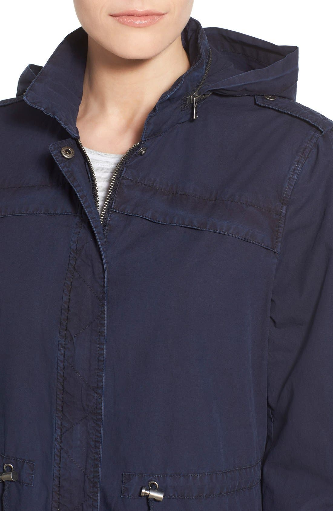 Lightweight Cotton Hooded Utility Jacket,                             Alternate thumbnail 14, color,