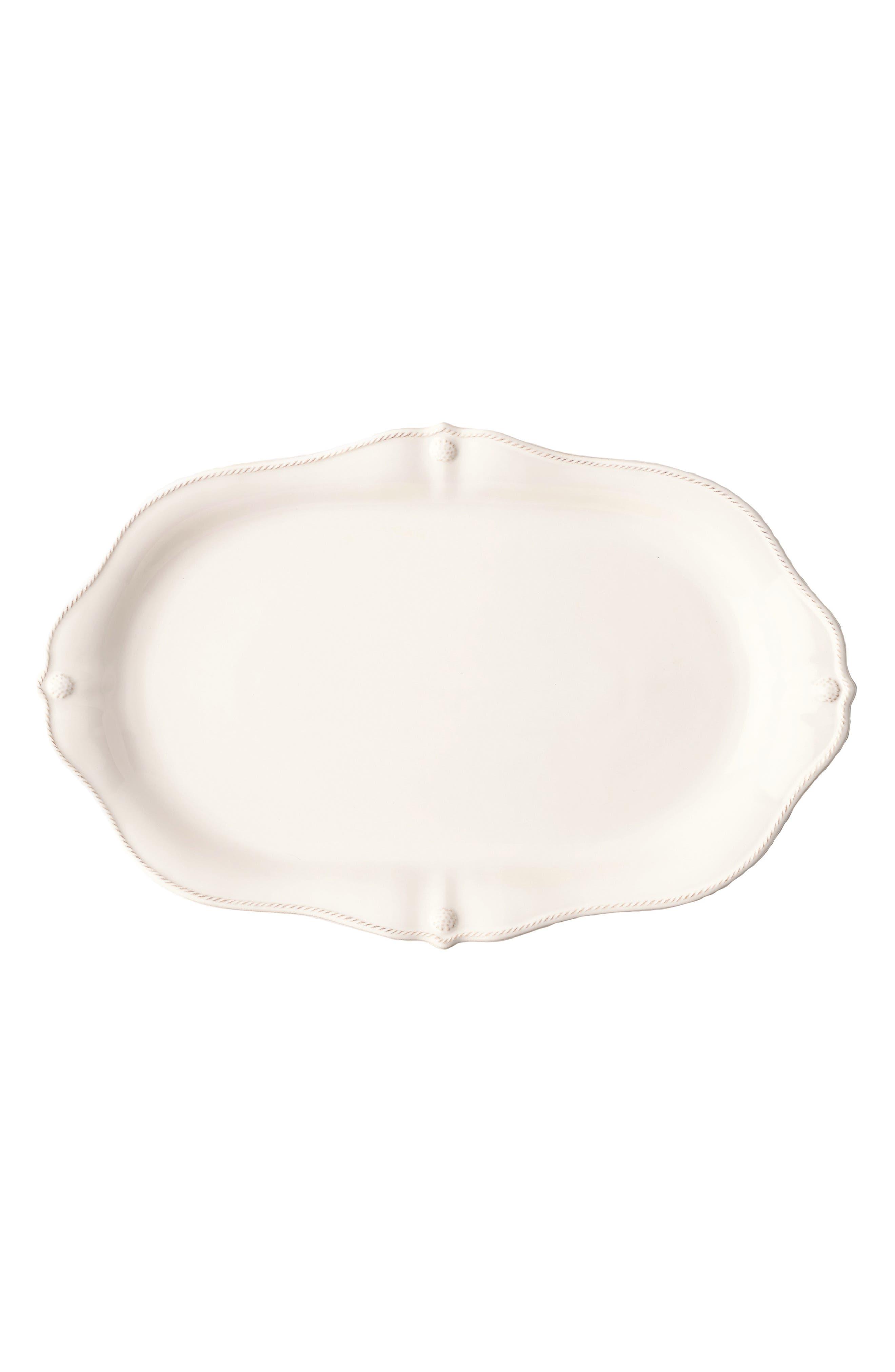 JULISKA,                             Berry & Thread Whitewash Scalloped Platter,                             Main thumbnail 1, color,                             WHITEWASH