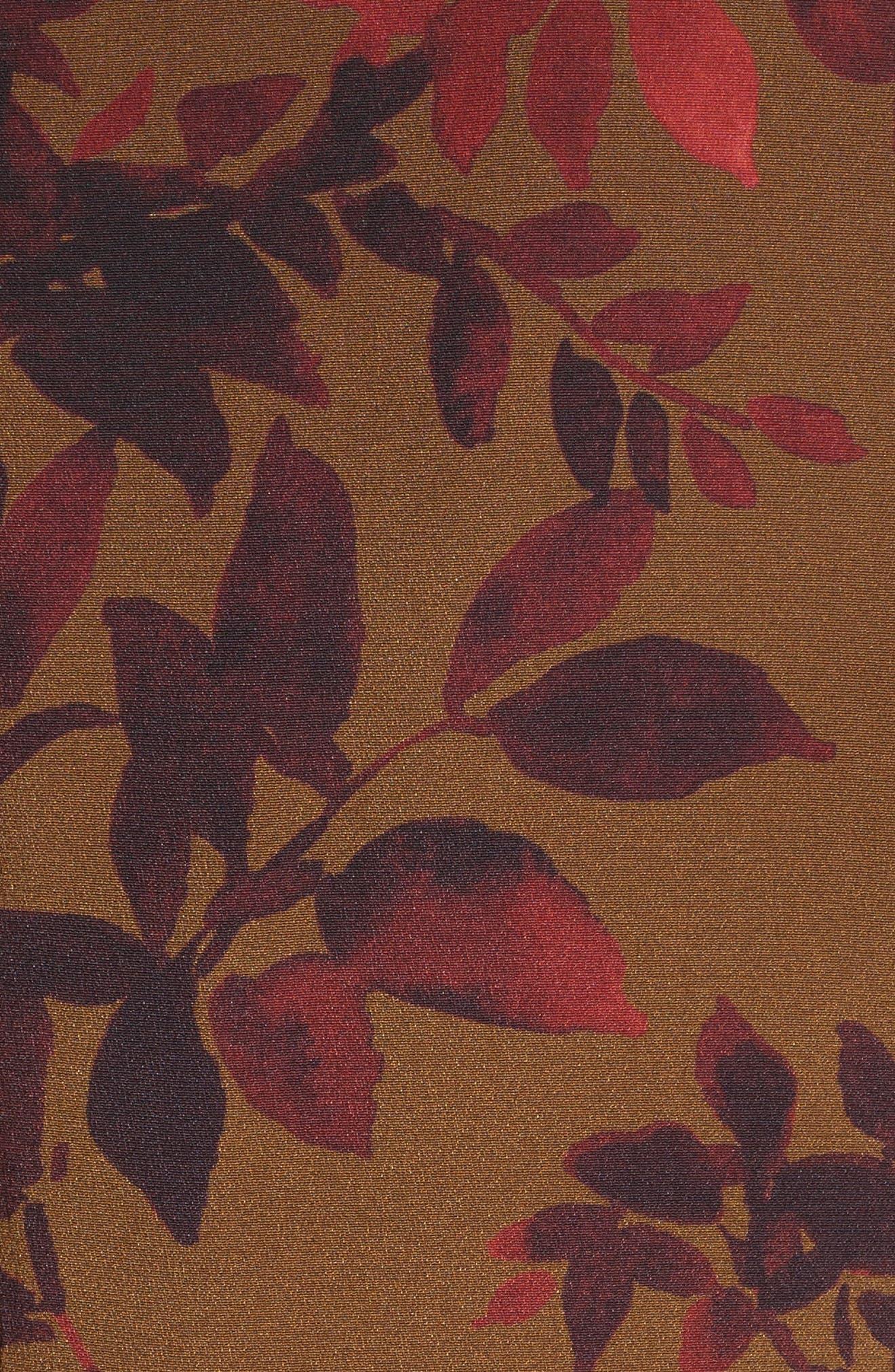 Sidra Floral Print Silk Dress,                             Alternate thumbnail 5, color,                             242