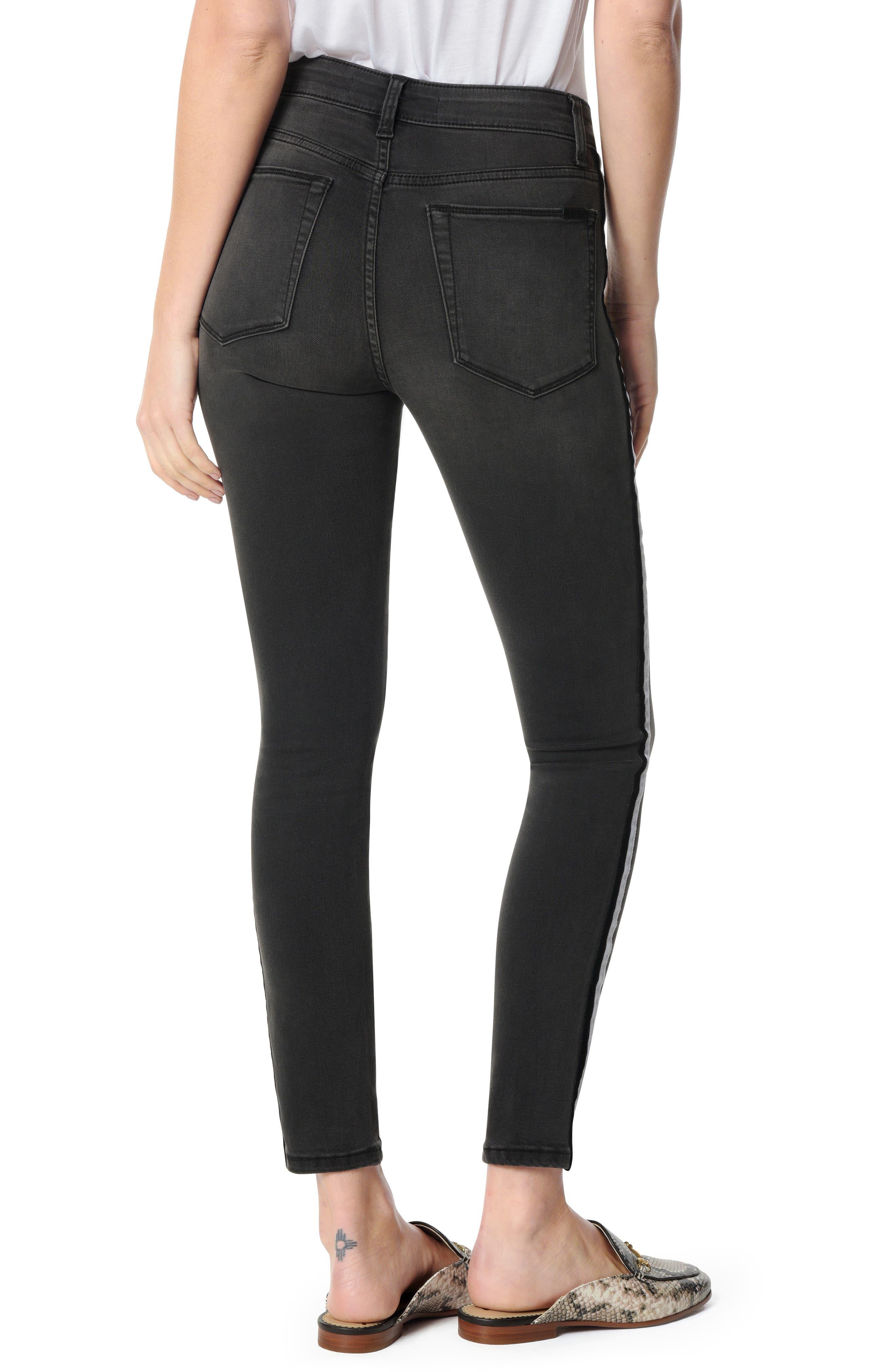 Charlie Velvet Stripe Ankle Skinny Jeans,                             Alternate thumbnail 2, color,                             ASHLEY