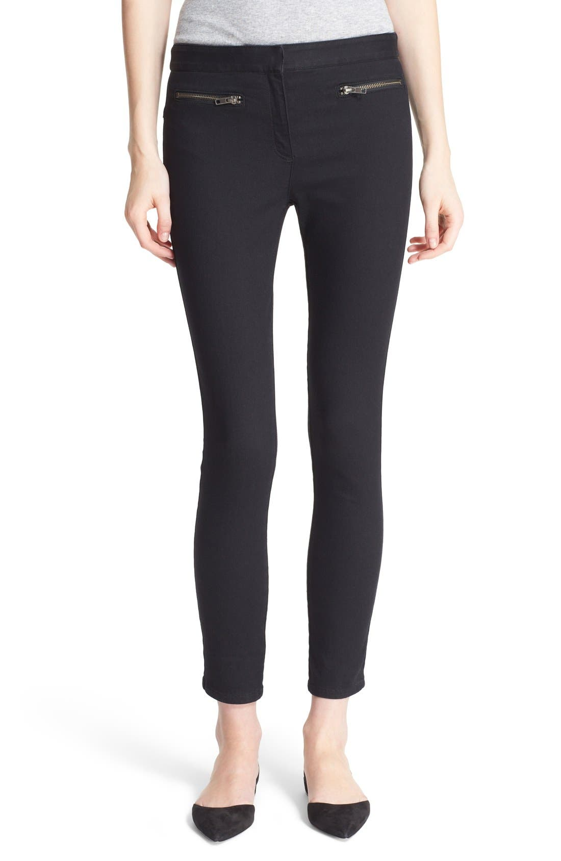 Skinny Crop Trousers,                         Main,                         color, 001