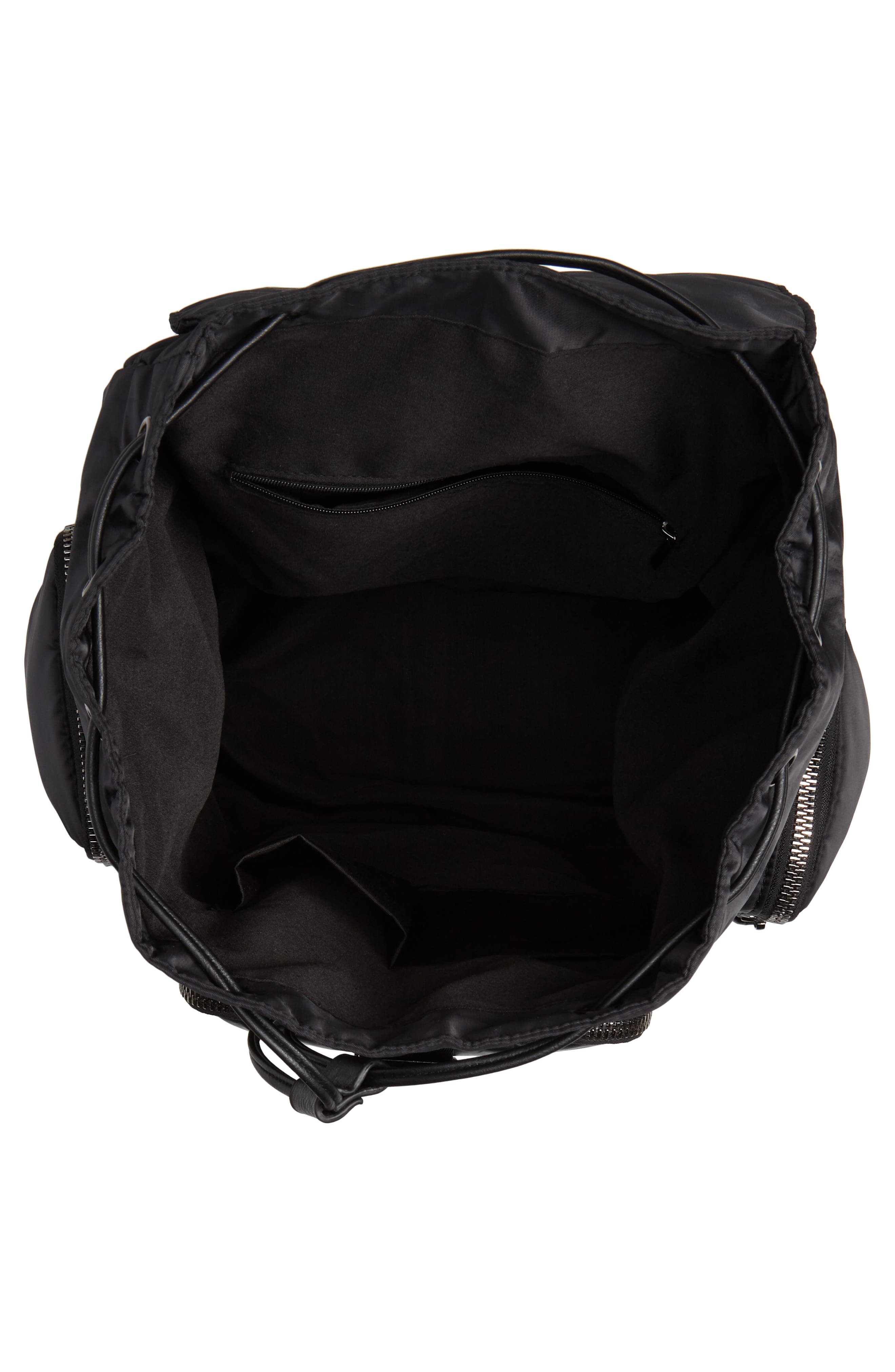 Oversized Utility Backpack,                             Alternate thumbnail 4, color,                             BLACK