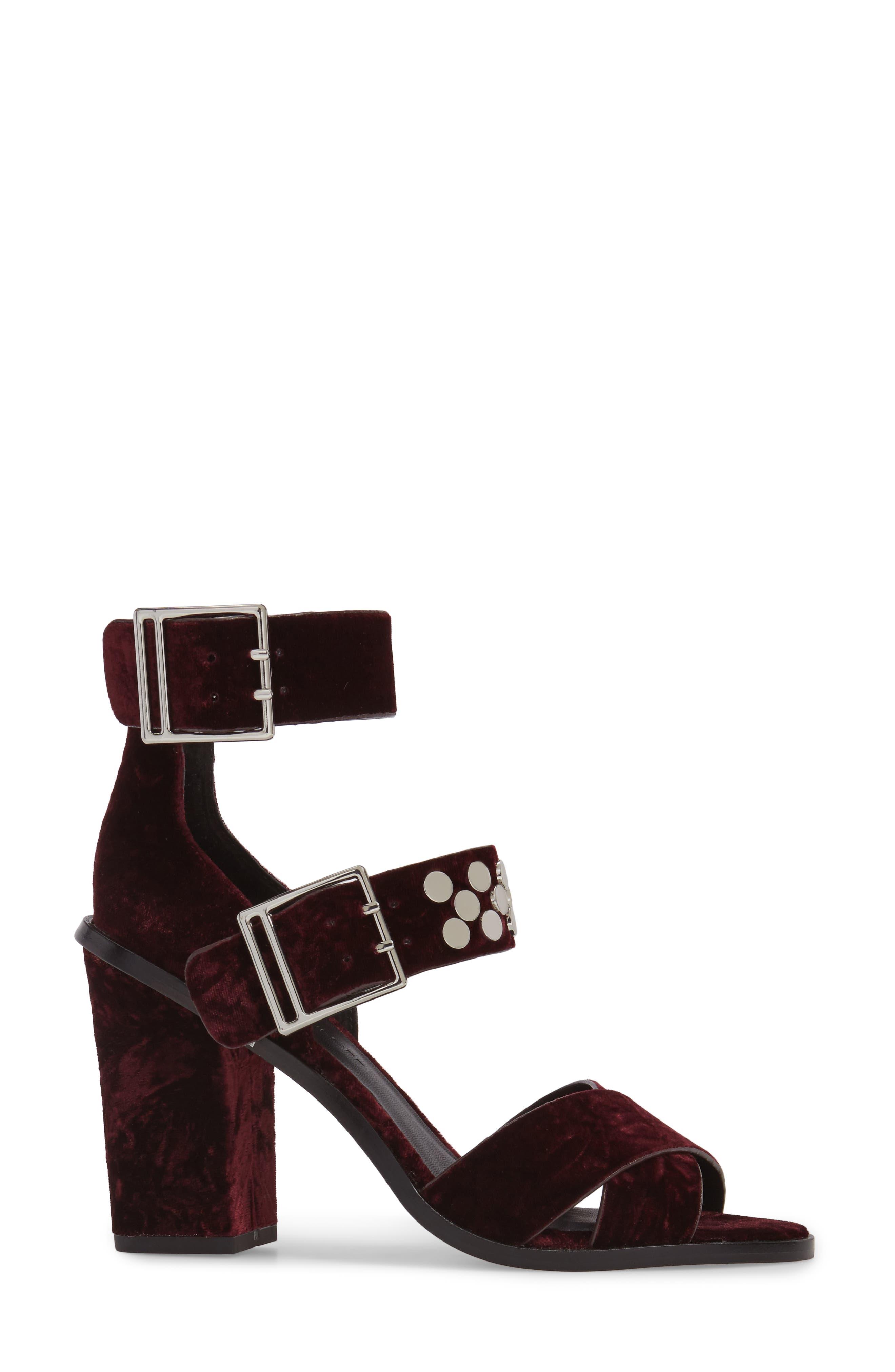 Jennifer Studded Ankle Cuff Sandal,                             Alternate thumbnail 9, color,