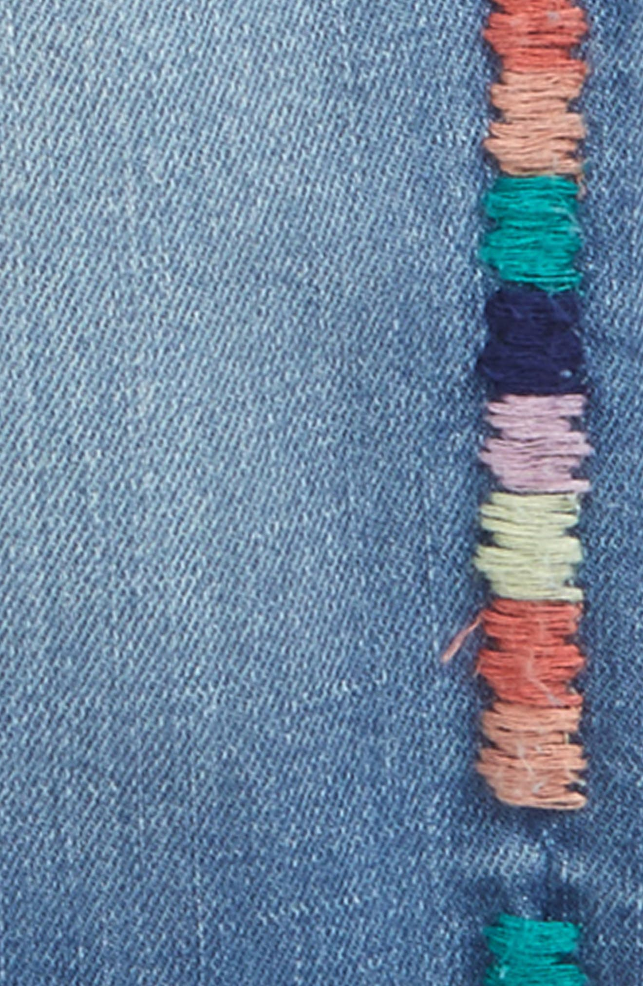 Taylor Embroidered Skinny Jeans,                             Alternate thumbnail 3, color,                             416