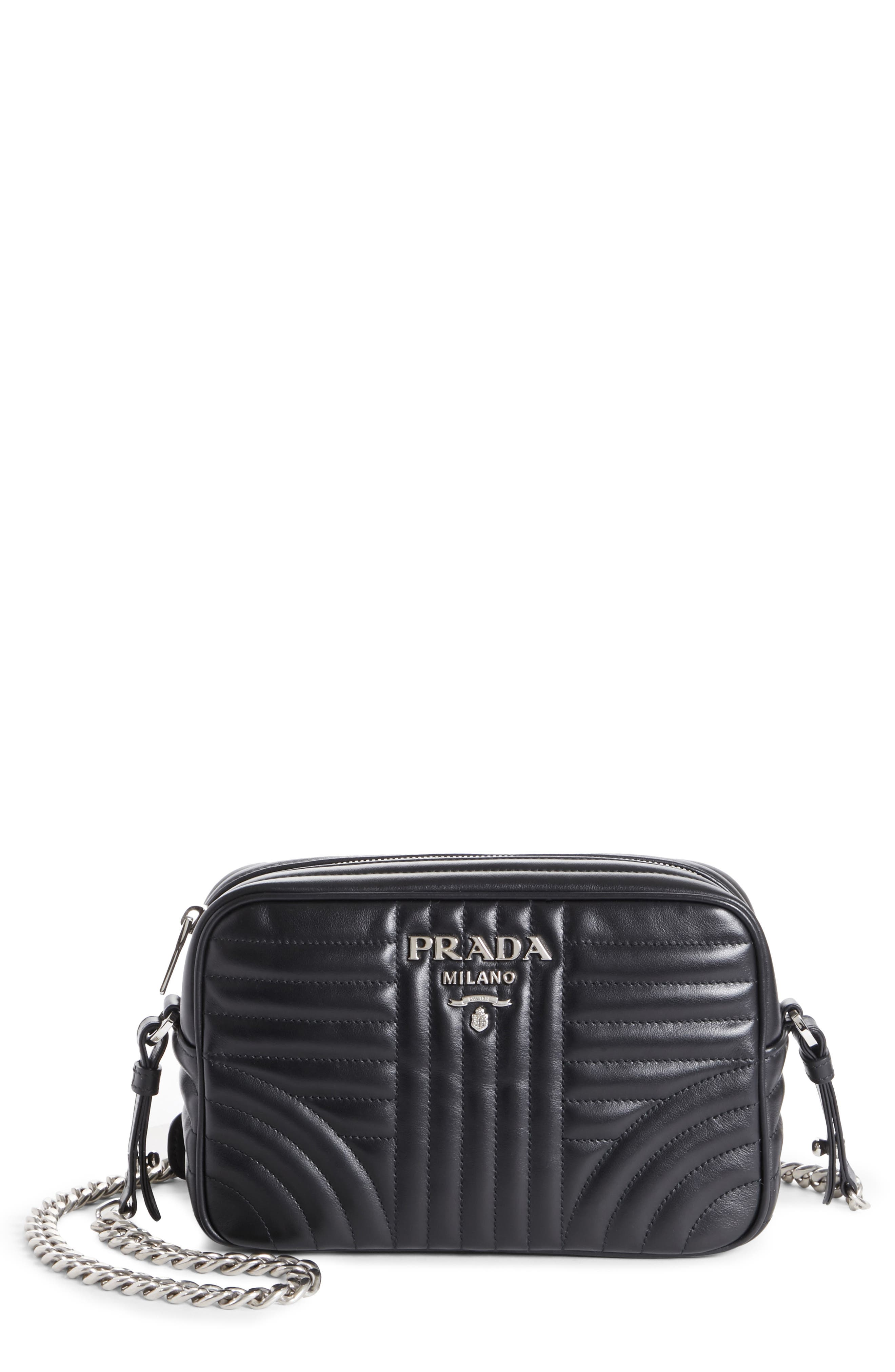 Small Quilted Bowler Crossbody Bag,                         Main,                         color, NERO
