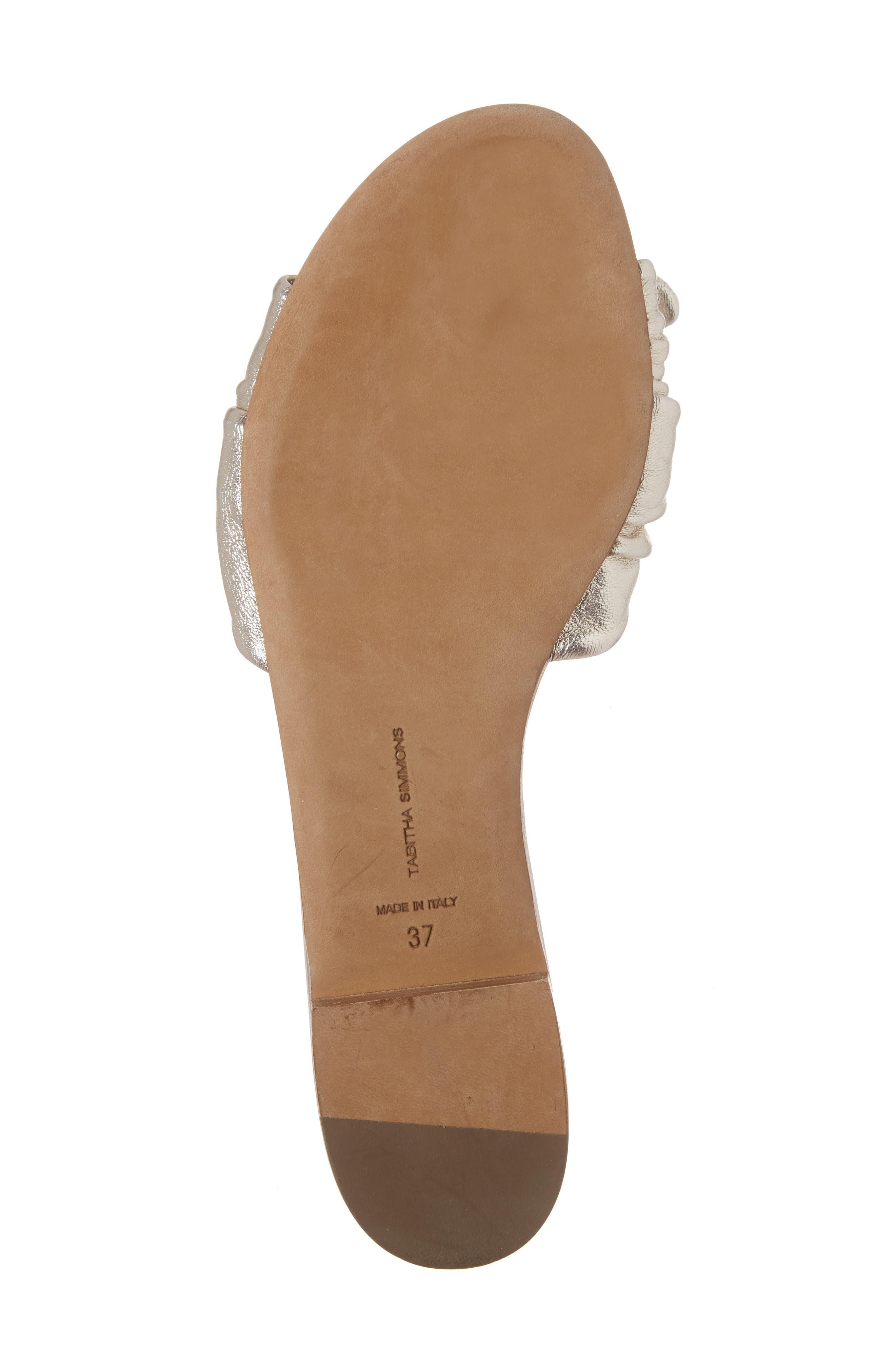 Cleo Knotted Bow Slide Sandal,                             Alternate thumbnail 6, color,                             040