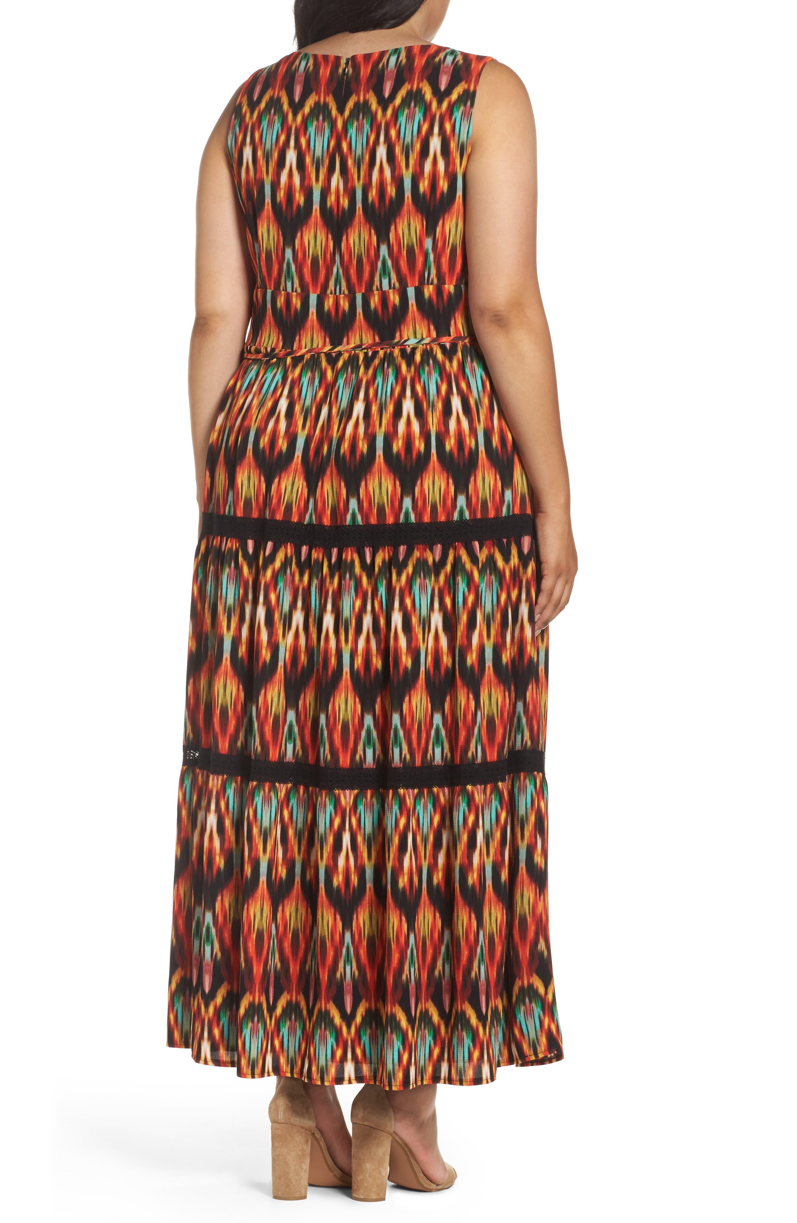 Bubble Print Maxi Dress,                             Alternate thumbnail 2, color,                             MULTI