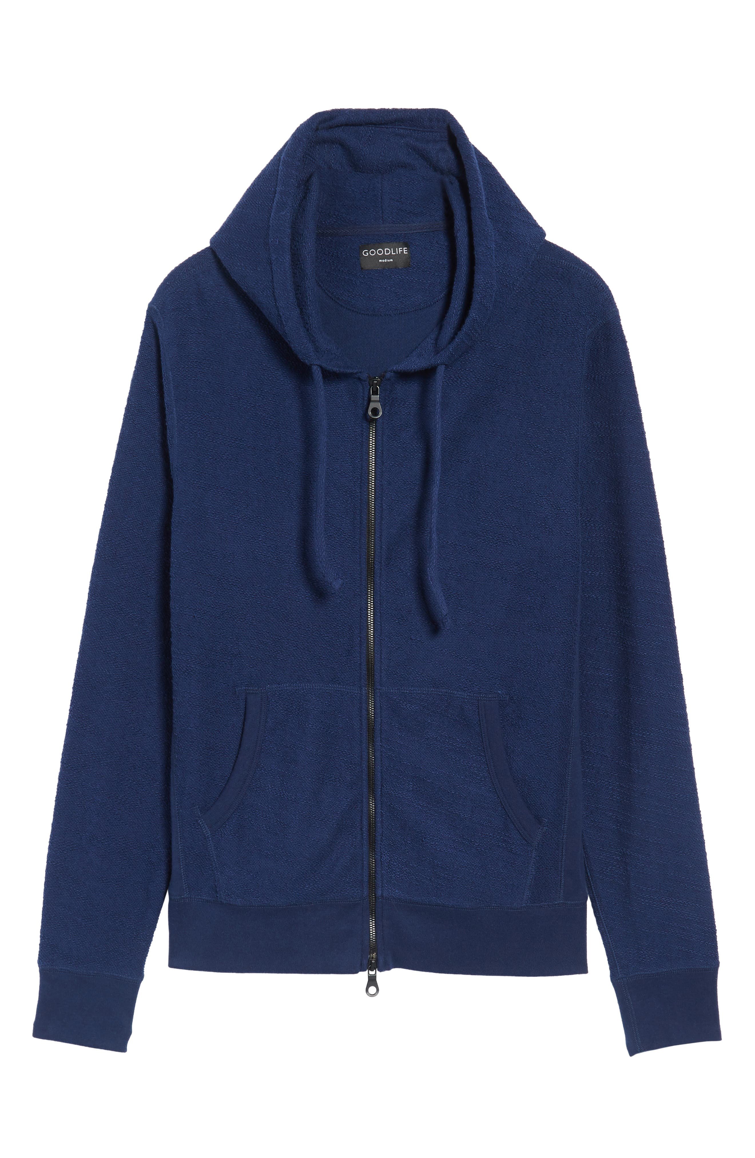 Terrycloth Cotton Blend Zip Hoodie,                             Alternate thumbnail 18, color,