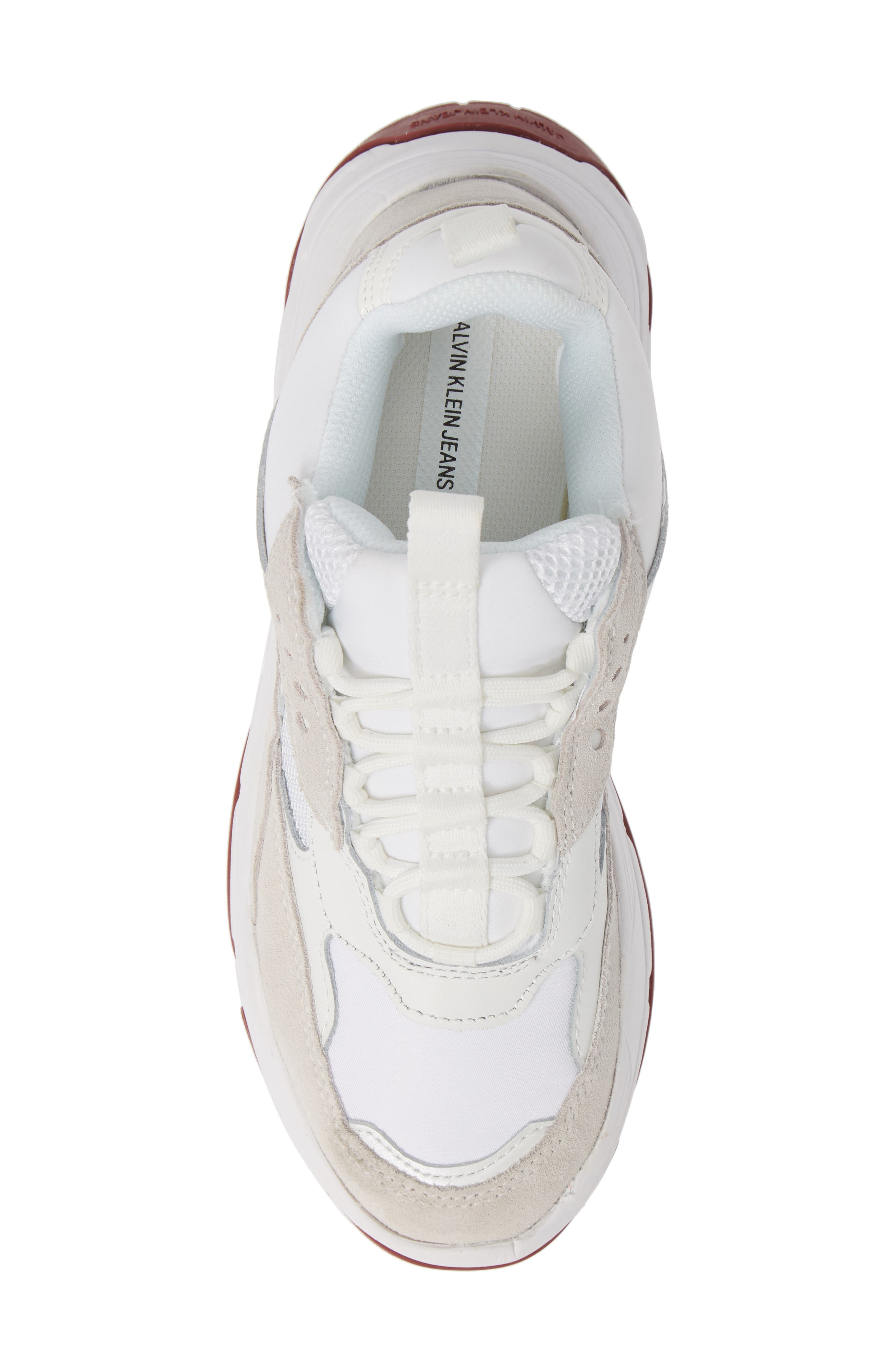 Maya Sneaker,                             Alternate thumbnail 5, color,                             WHITE FABRIC