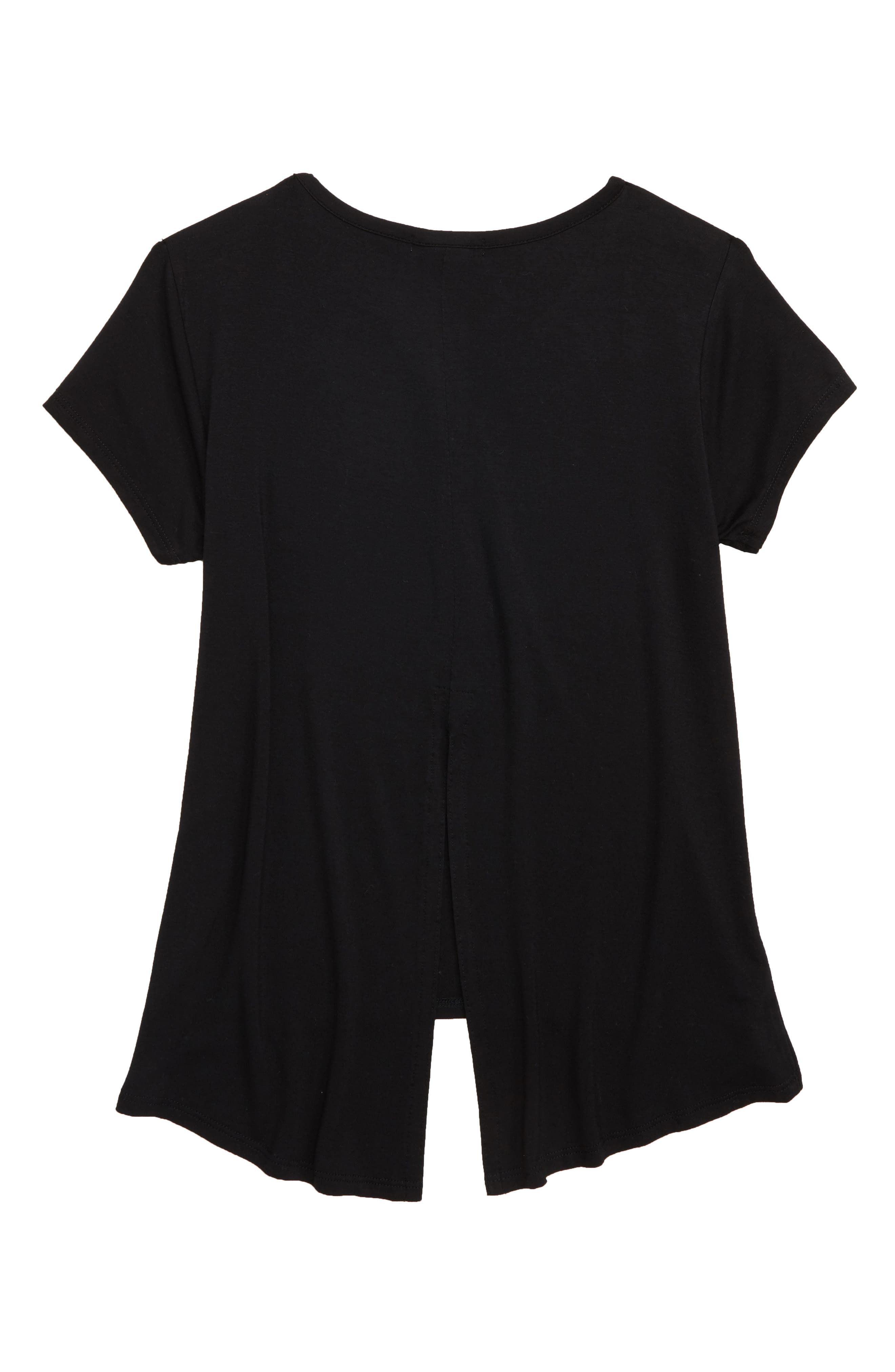 'Living' Graphic Envelope Back Tee,                             Alternate thumbnail 17, color,