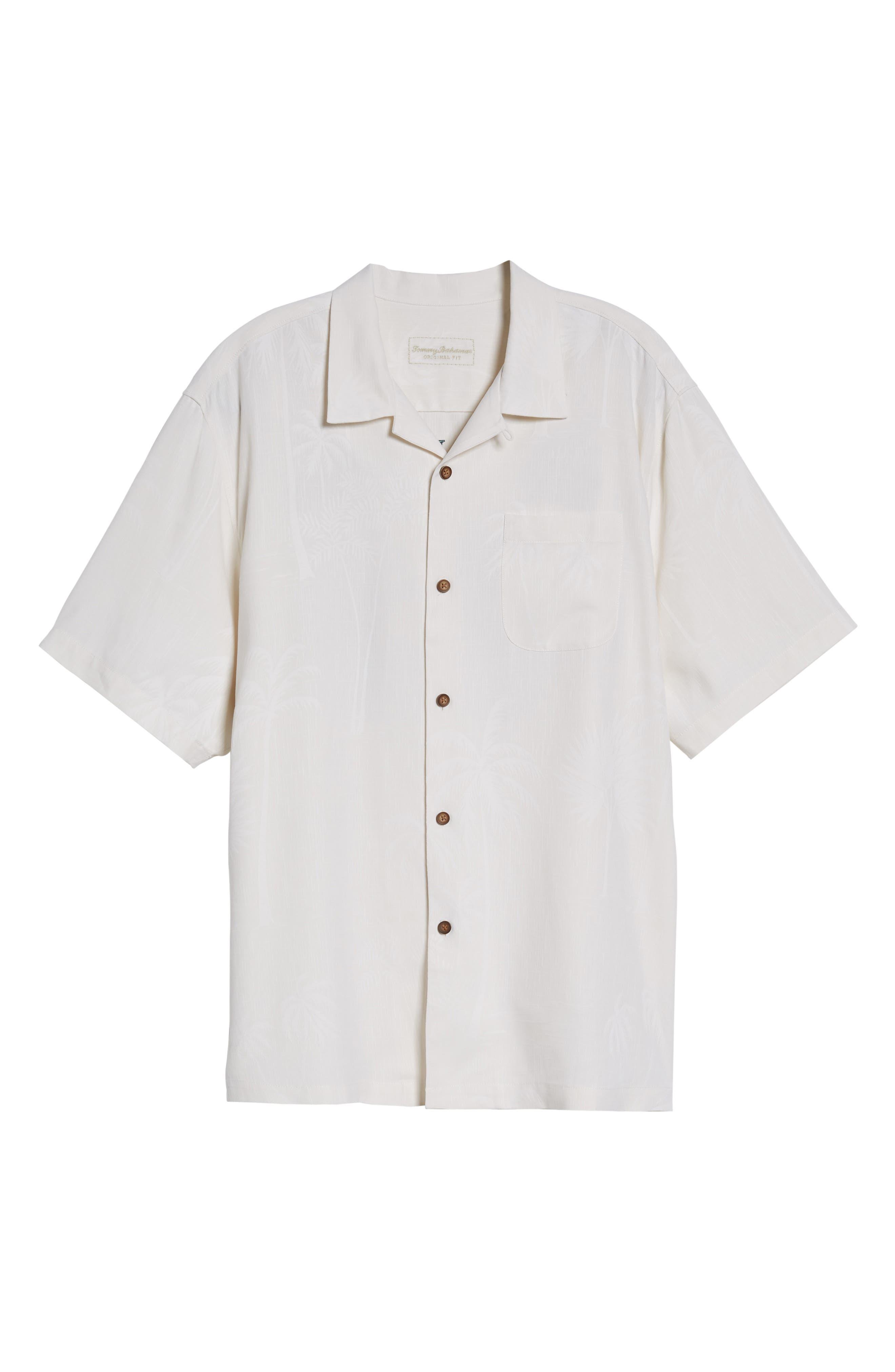 Offshore Sails Silk Camp Shirt,                             Alternate thumbnail 6, color,                             100