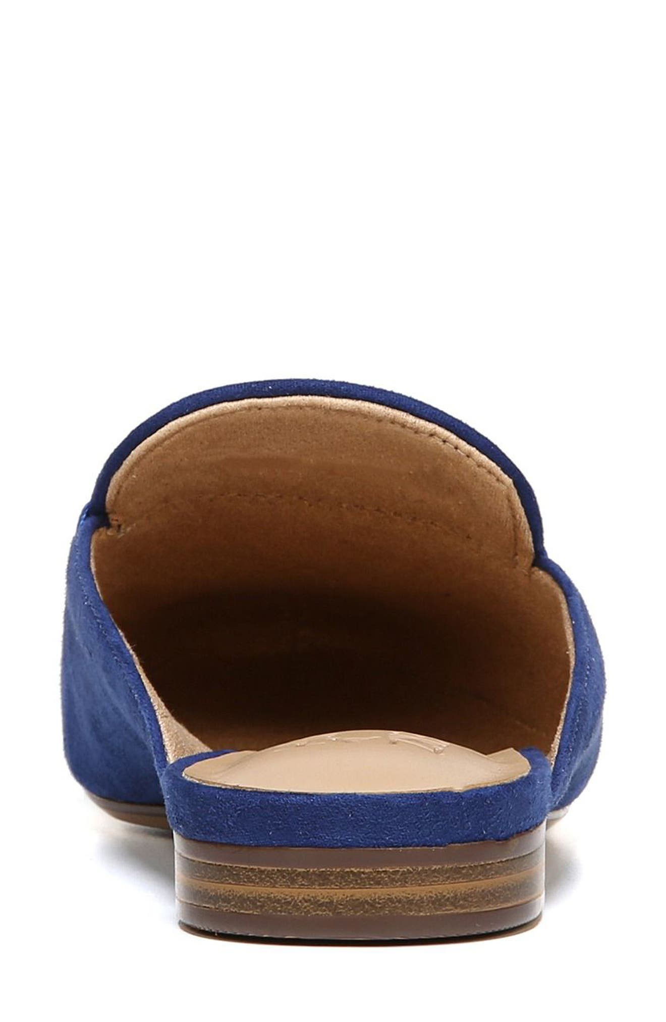 NATURALIZER,                             Eden II Embroidered Mule,                             Alternate thumbnail 7, color,                             SAPPHIRE FABRIC