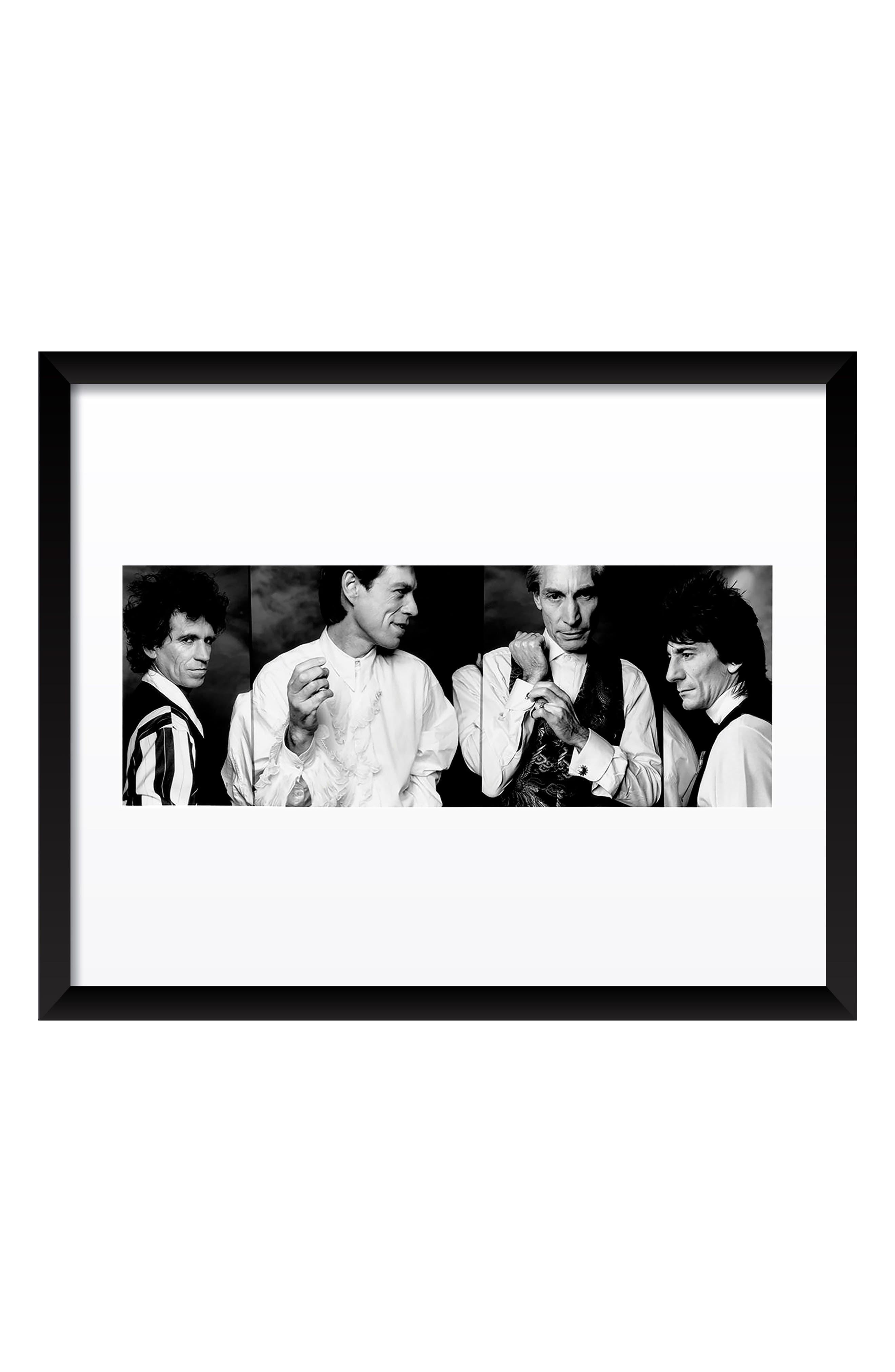 The Rolling Stones Fine Art Print,                             Main thumbnail 1, color,                             BLACK