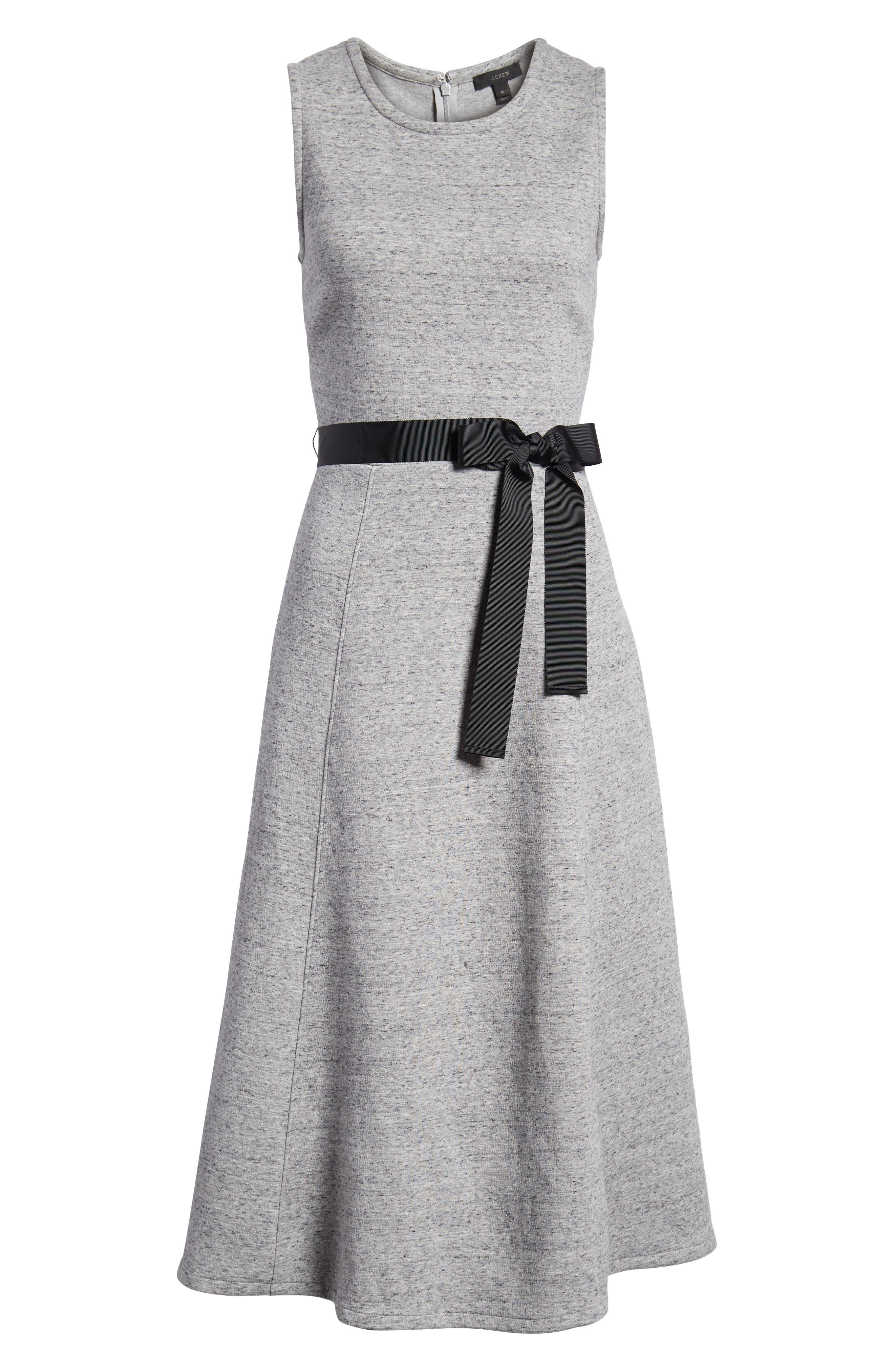 Velvet Tie A-Line Dress,                             Alternate thumbnail 8, color,                             020