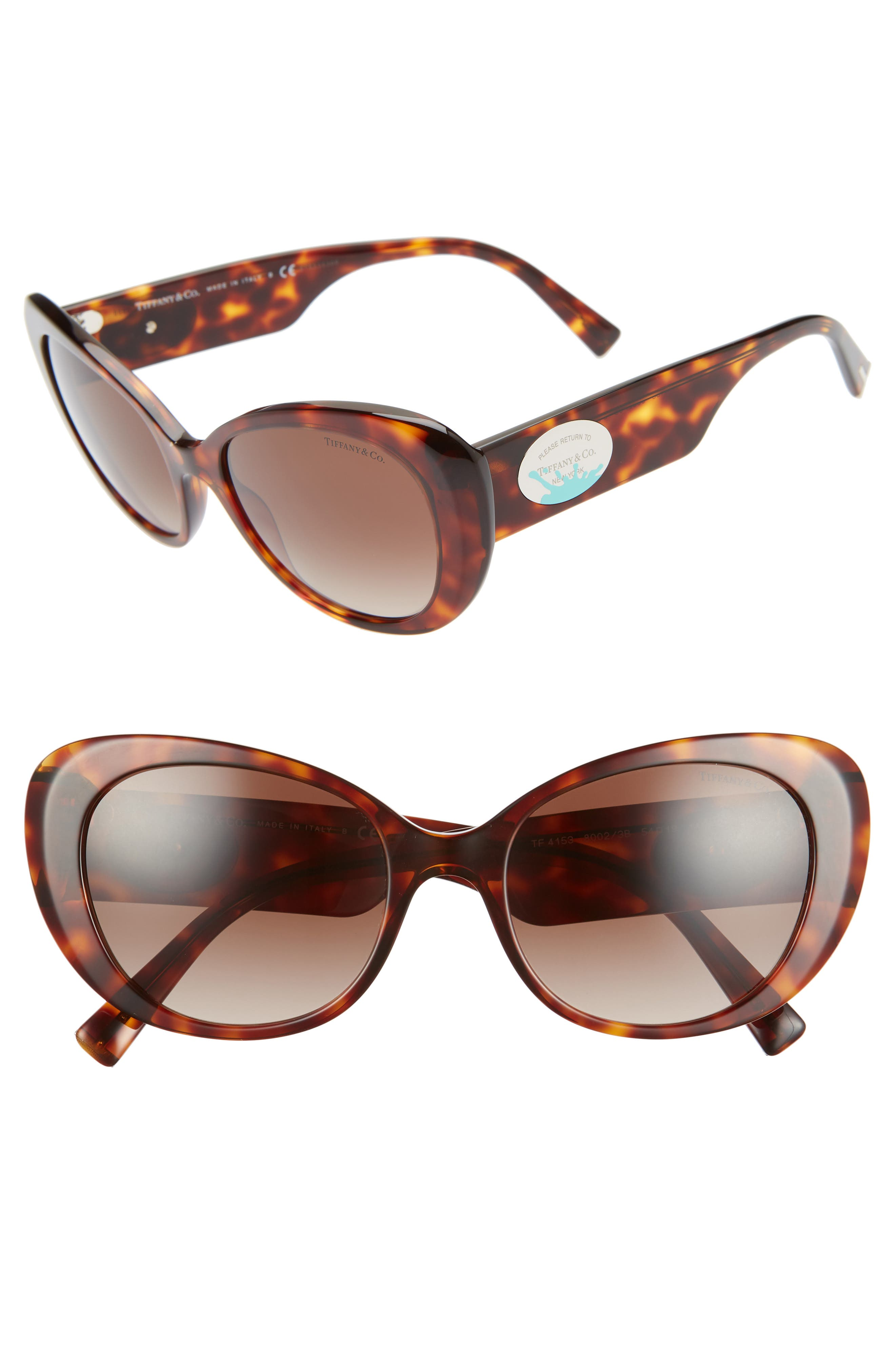 TIFFANY & CO Return To Tiffany 54Mm Oval Sunglasses - Brown Gradient