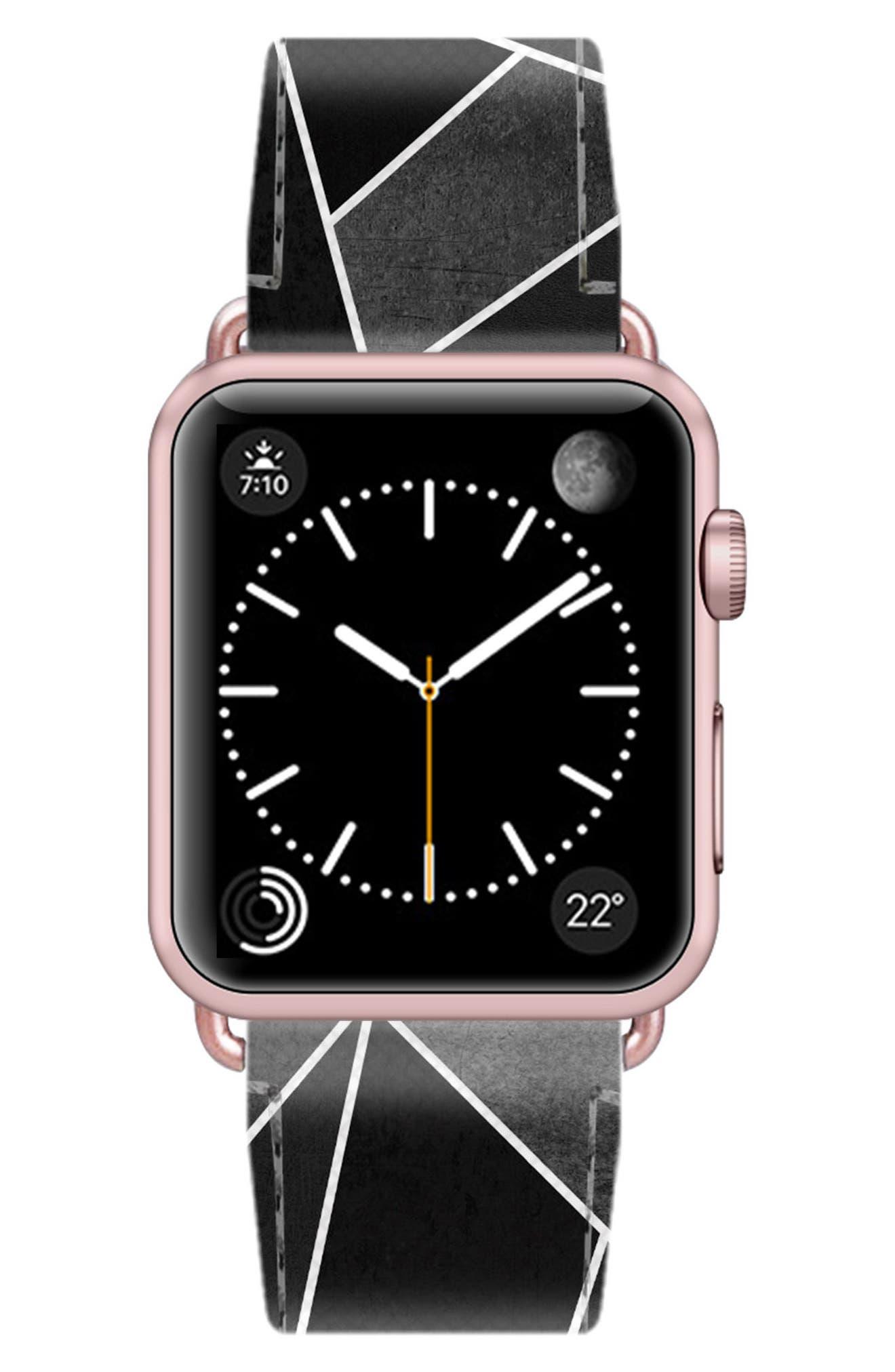 Saffiano Faux Leather Apple Watch Strap,                             Alternate thumbnail 26, color,