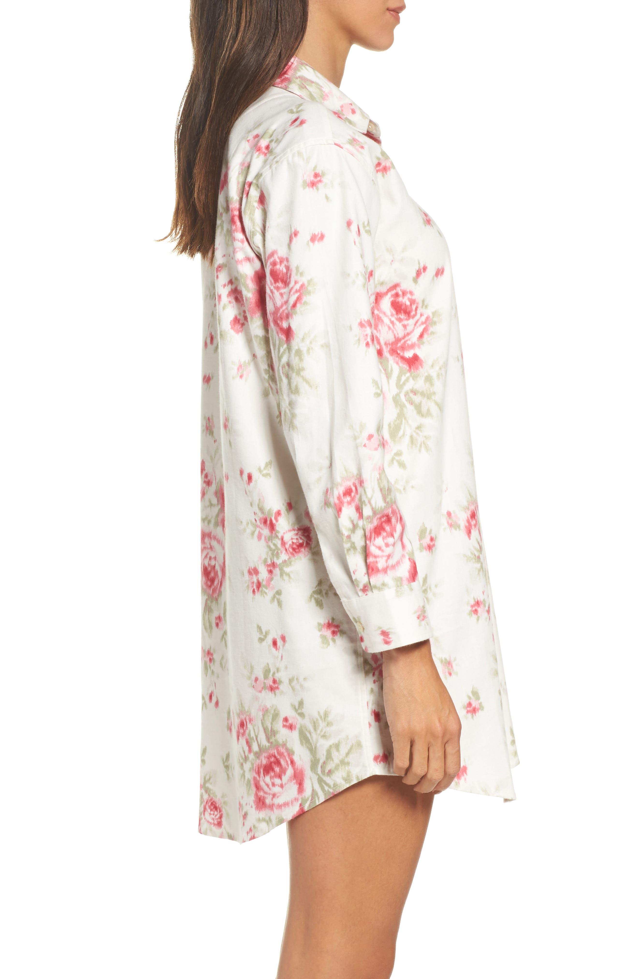 Flannel Sleep Shirt,                             Alternate thumbnail 12, color,
