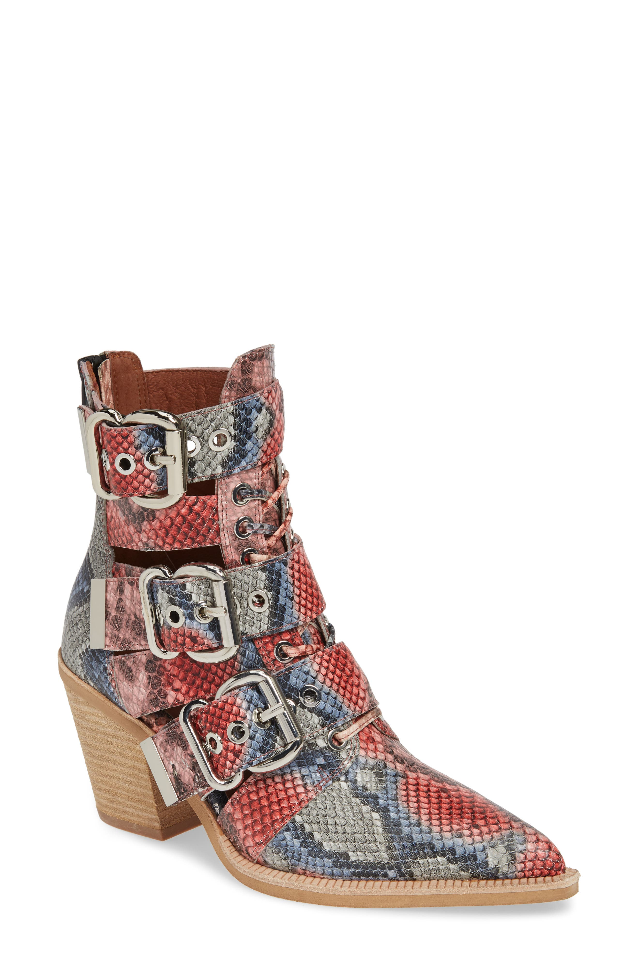 Jeffrey Campbell Caceres Bootie- Red