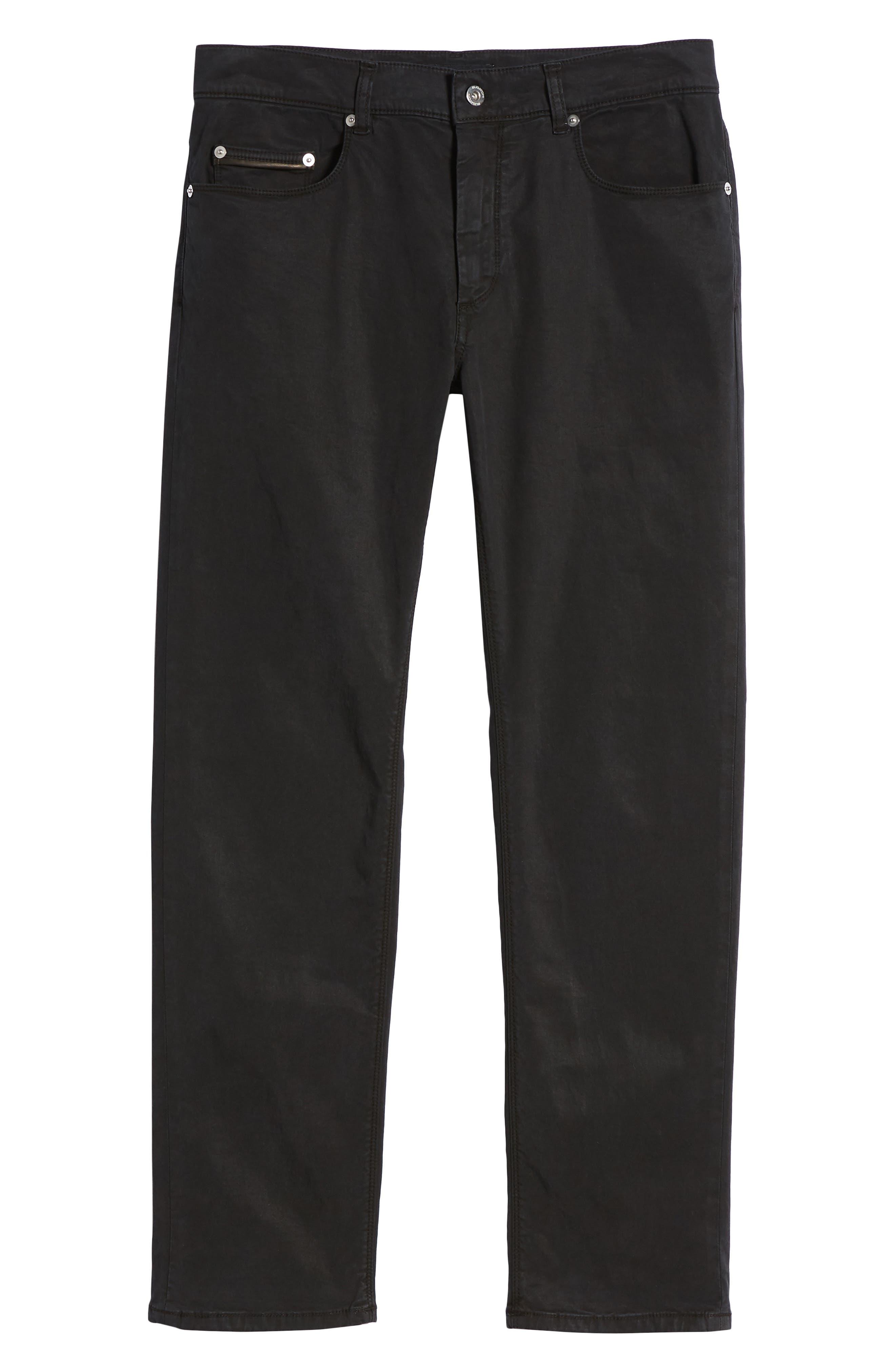 BUGATCHI,                             Trim Fit Pants,                             Alternate thumbnail 6, color,                             001