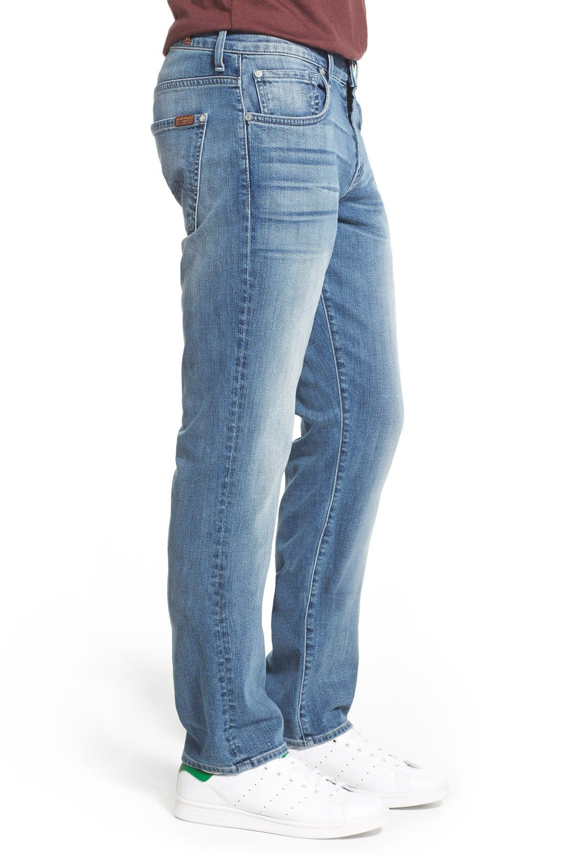 'Straight - FoolProof' Slim Straight Leg Jeans,                             Alternate thumbnail 4, color,                             402