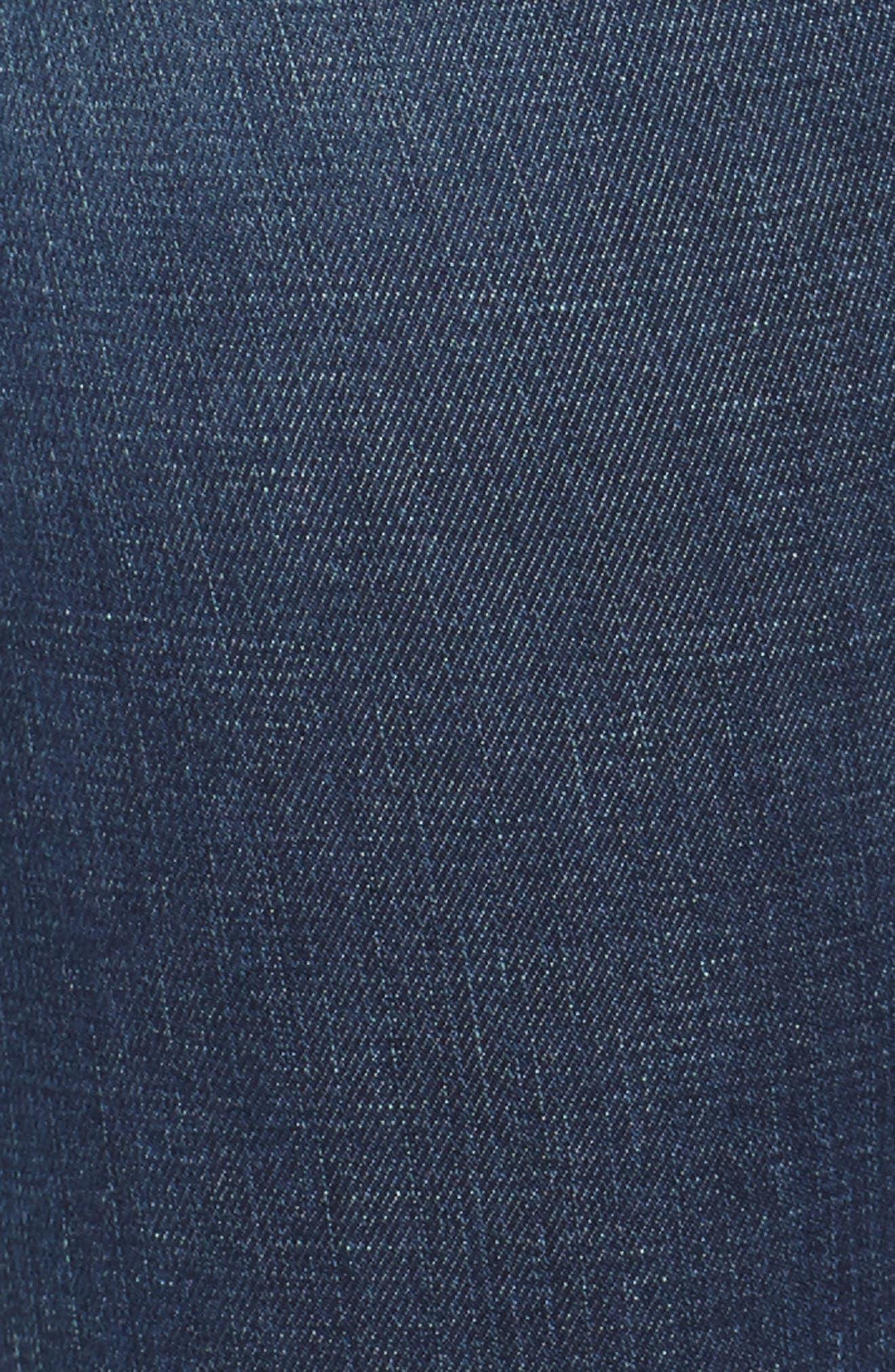 Le Skinny de Jeanne Ripped Raw Hem Ankle Jeans,                             Alternate thumbnail 5, color,                             JOLIE