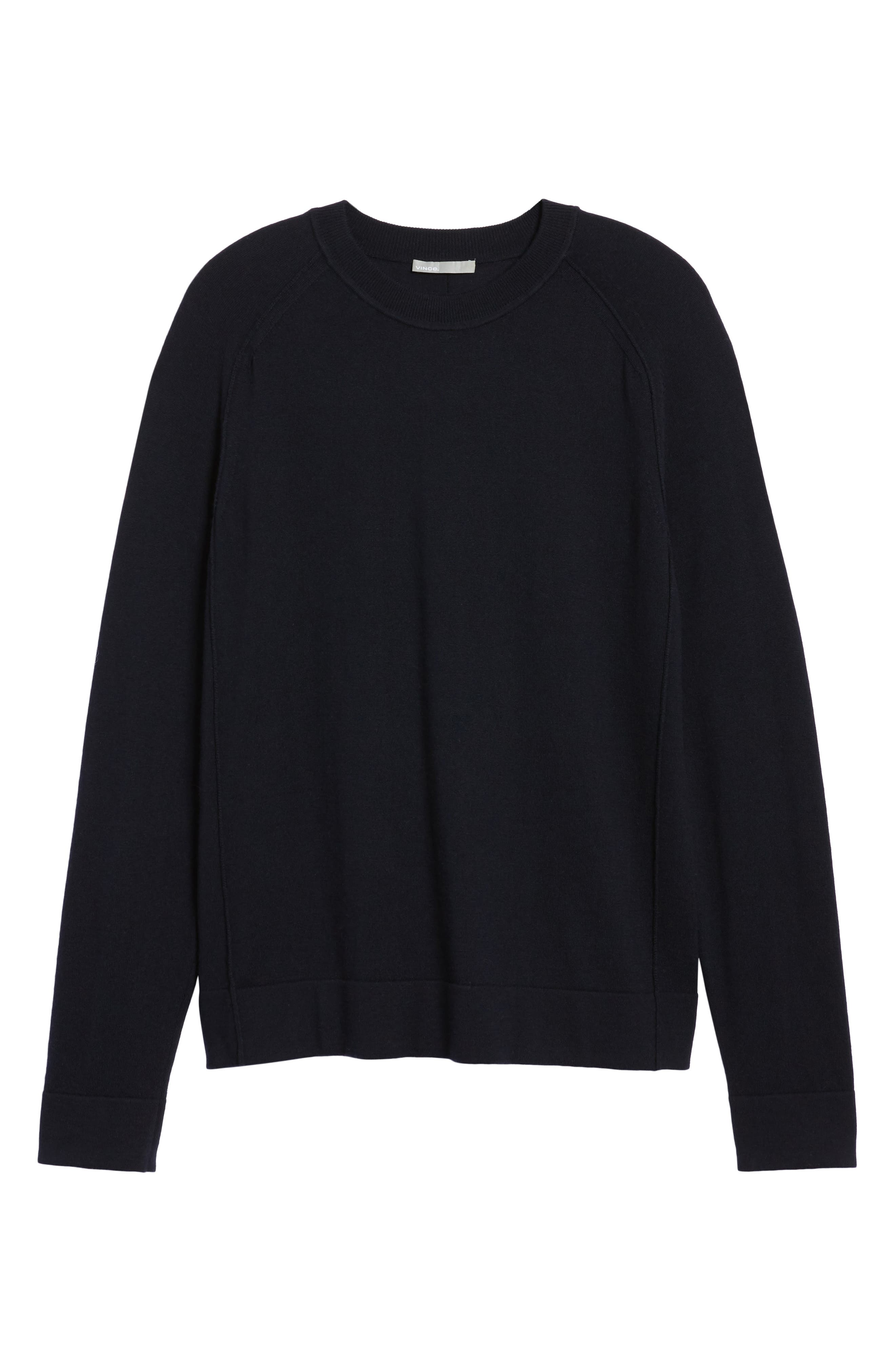 Raw Seam Merino Wool Sweater,                             Alternate thumbnail 6, color,                             NEW COASTAL