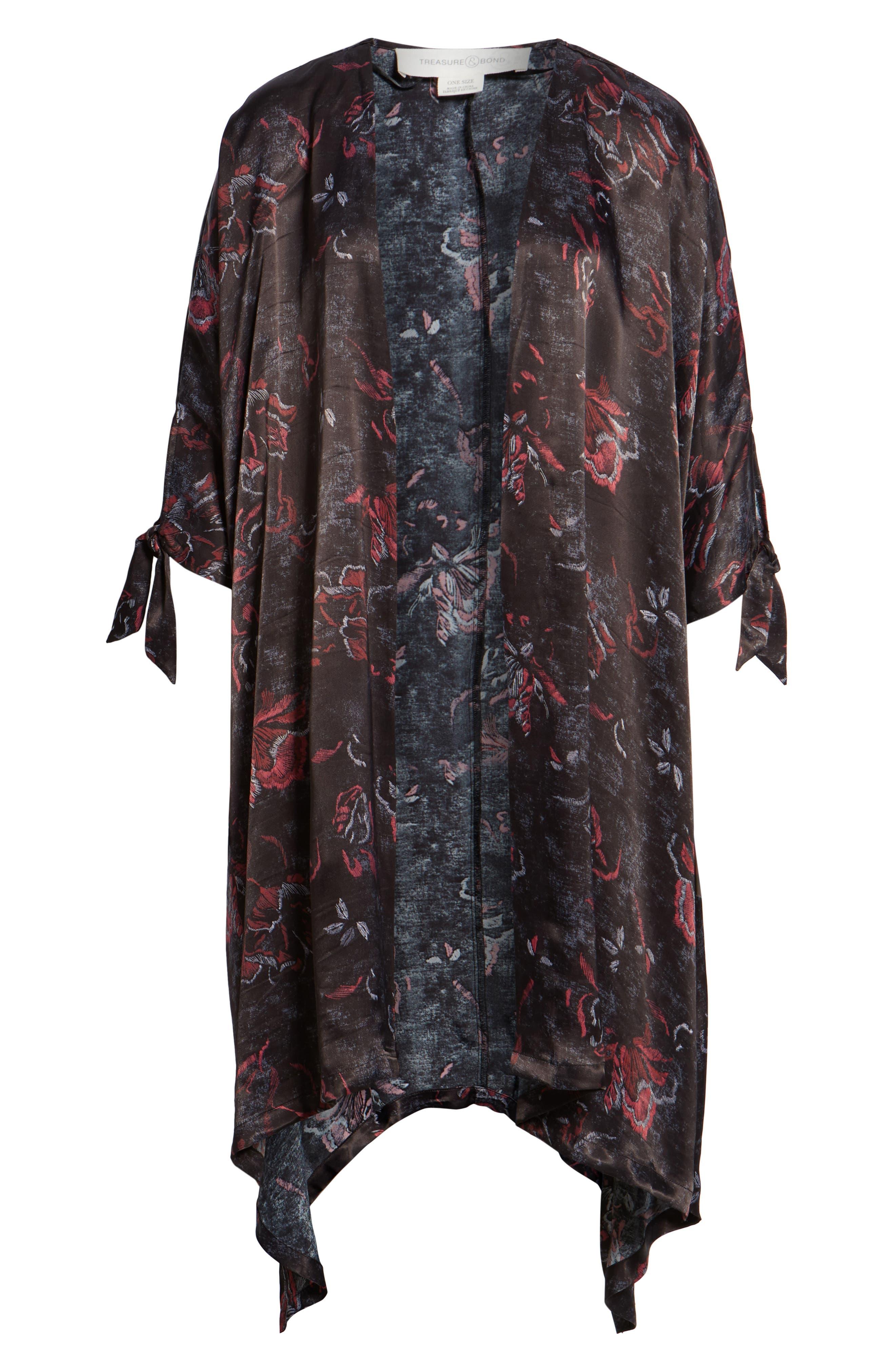 High/Low Kimono,                             Alternate thumbnail 6, color,                             001
