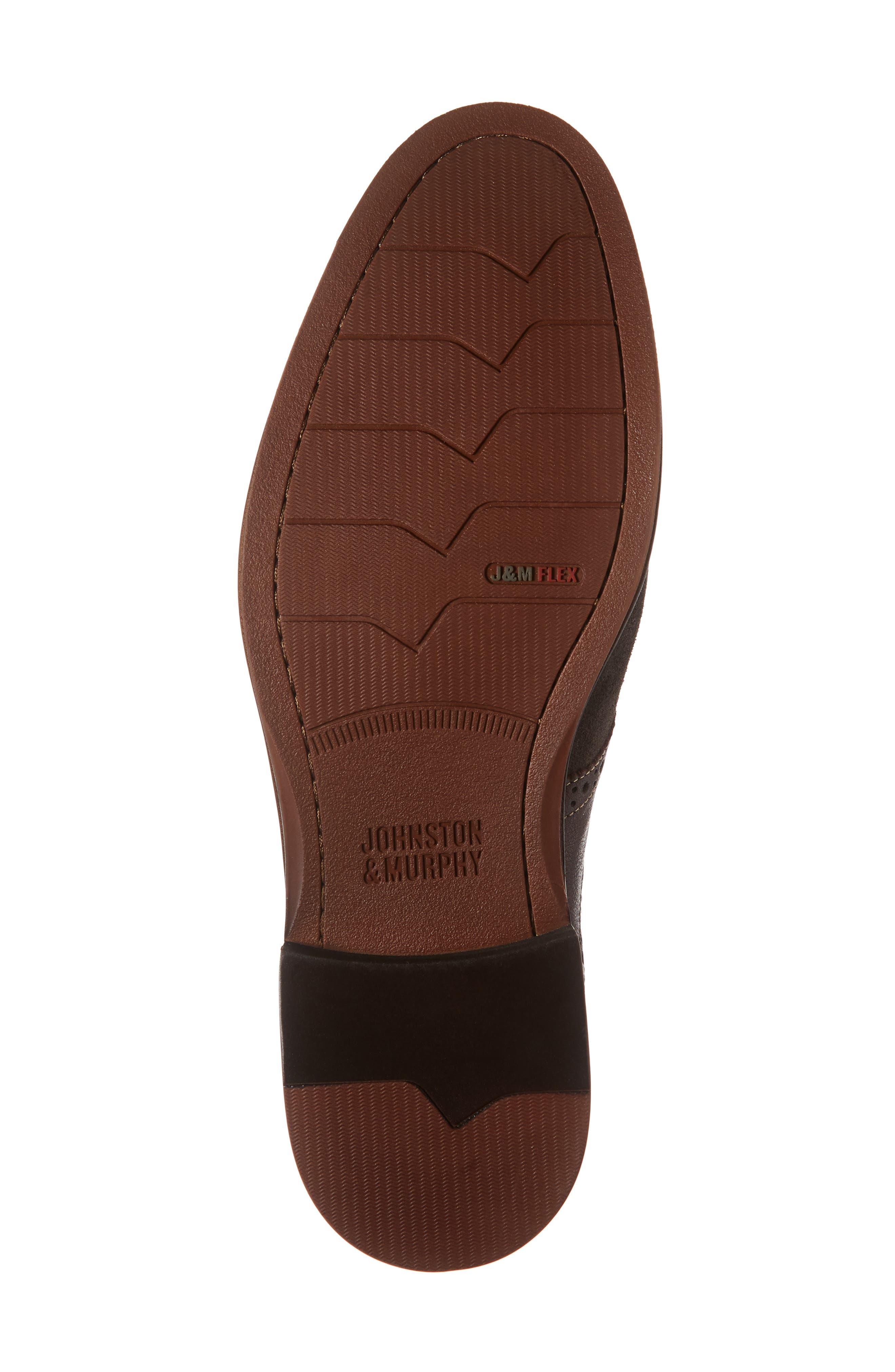 Warner Saddle Shoe,                             Alternate thumbnail 6, color,                             DARK GREY SUEDE
